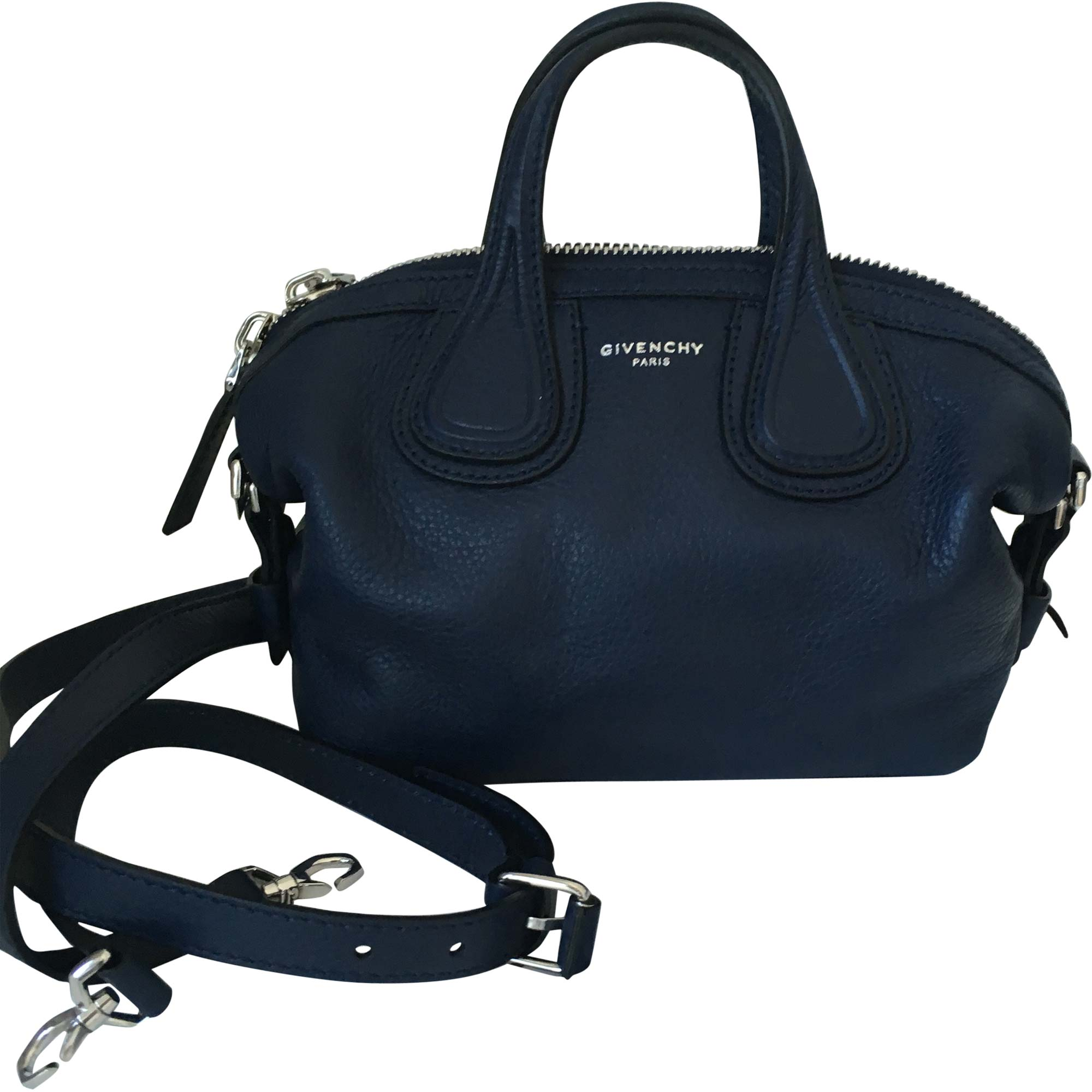 Leather Handbag GIVENCHY Nightingale Blue, navy, turquoise
