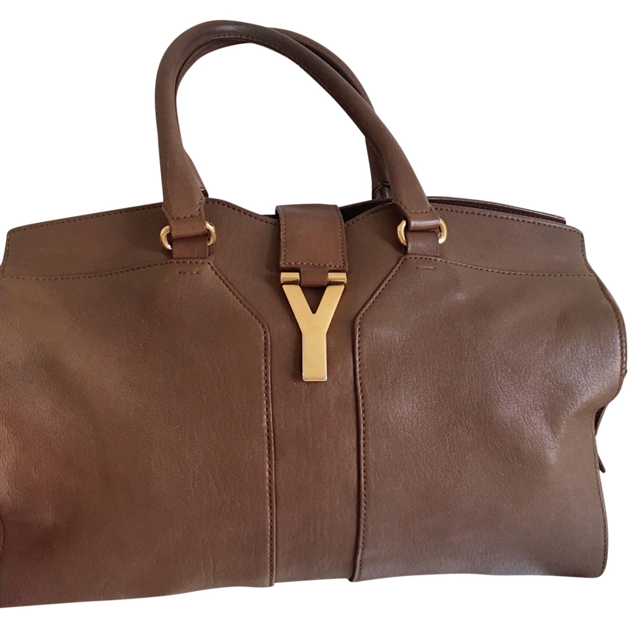 90ba9e382845 Sac à main en cuir YVES SAINT LAURENT chyc tan vendu par Anita 461 ...