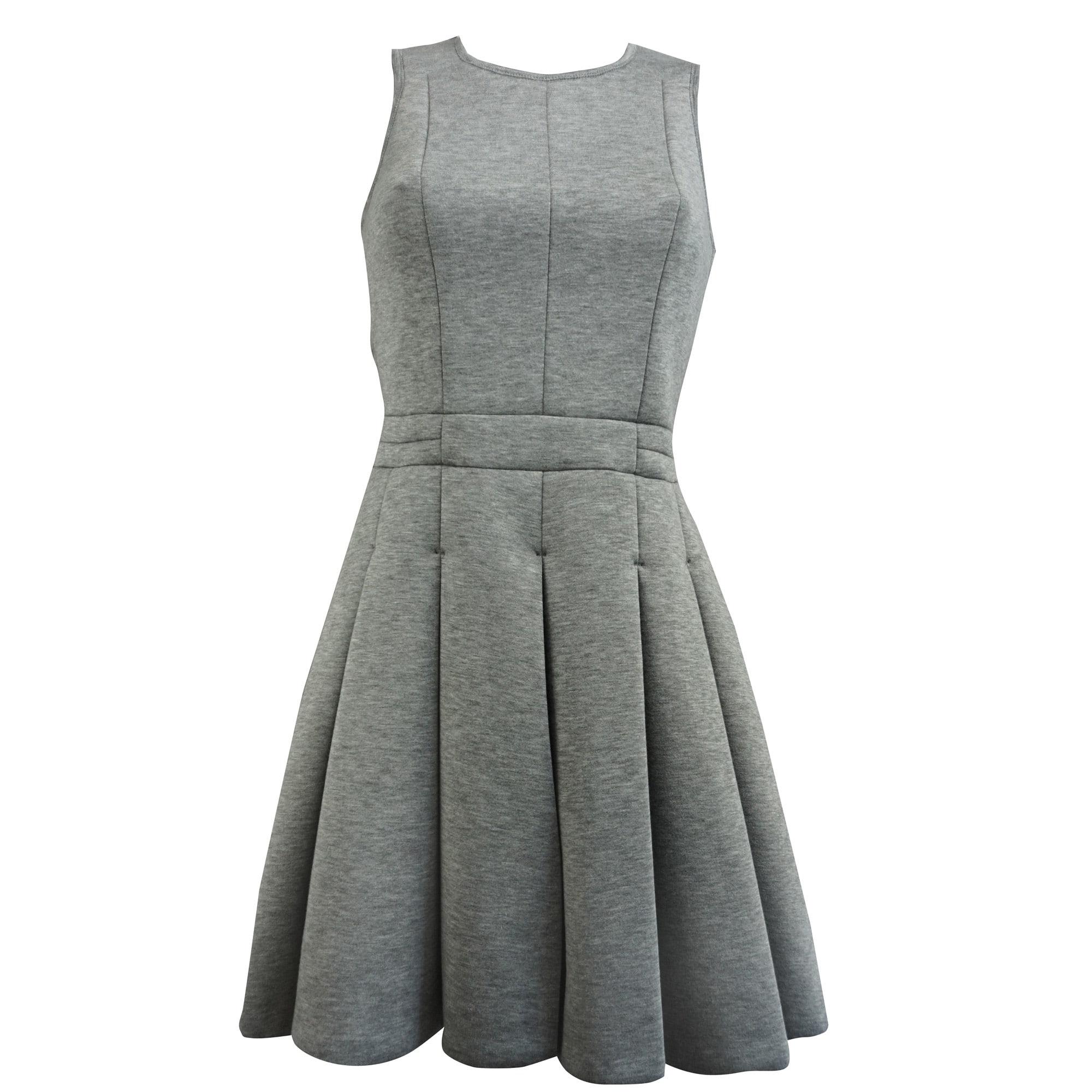 Robe Mi Longue Comptoir Des Cotonniers 40 L T3 Gris Vendu Par