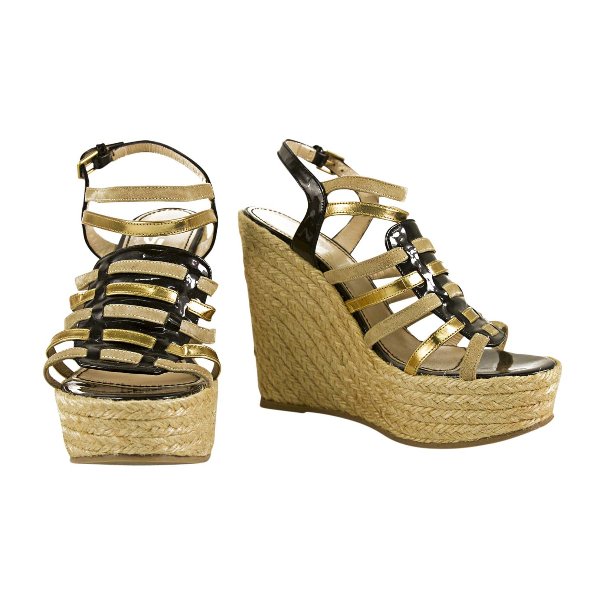Wedge Sandals YVES SAINT LAURENT Multicolor