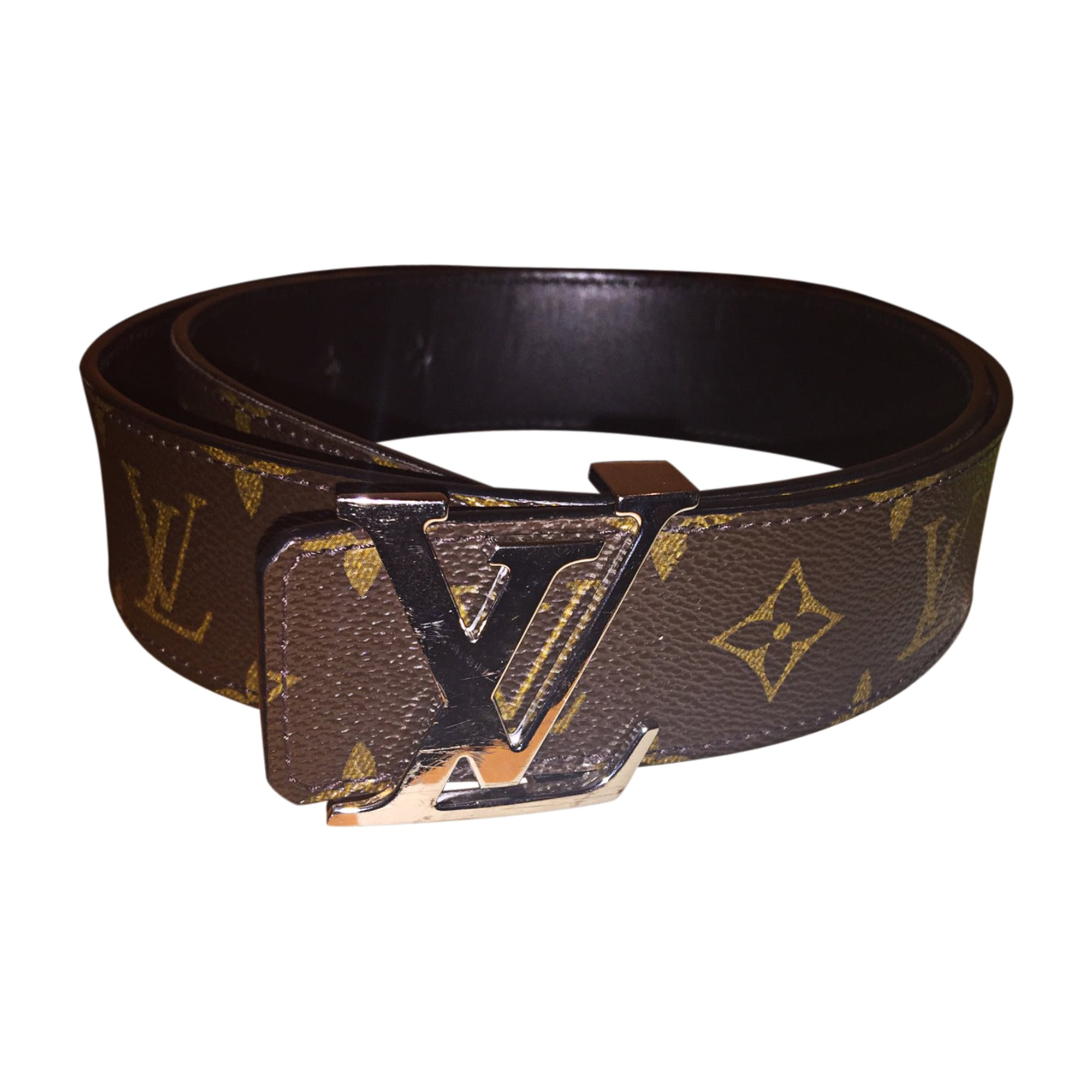Ceinture large LOUIS VUITTON 90 marron vendu par Cbec888 - 7656342 6ef06da09ca