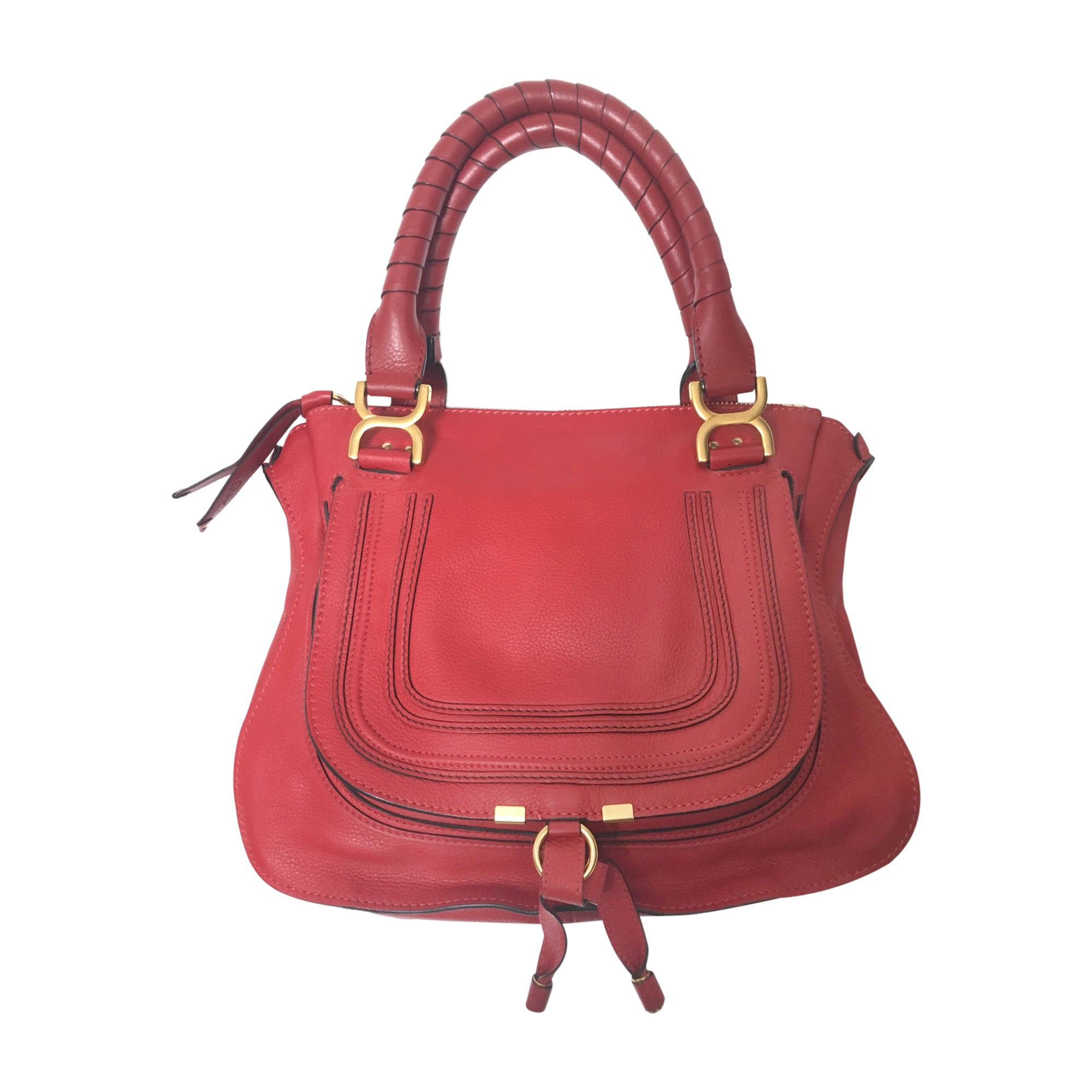 Leather Handbag CHLOÉ Red, burgundy