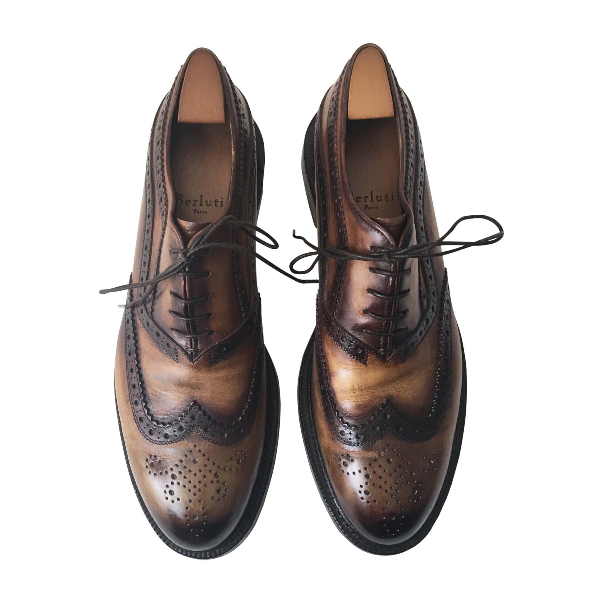 3e189c262678 Chaussures à lacets BERLUTI 42 marron - 7659311