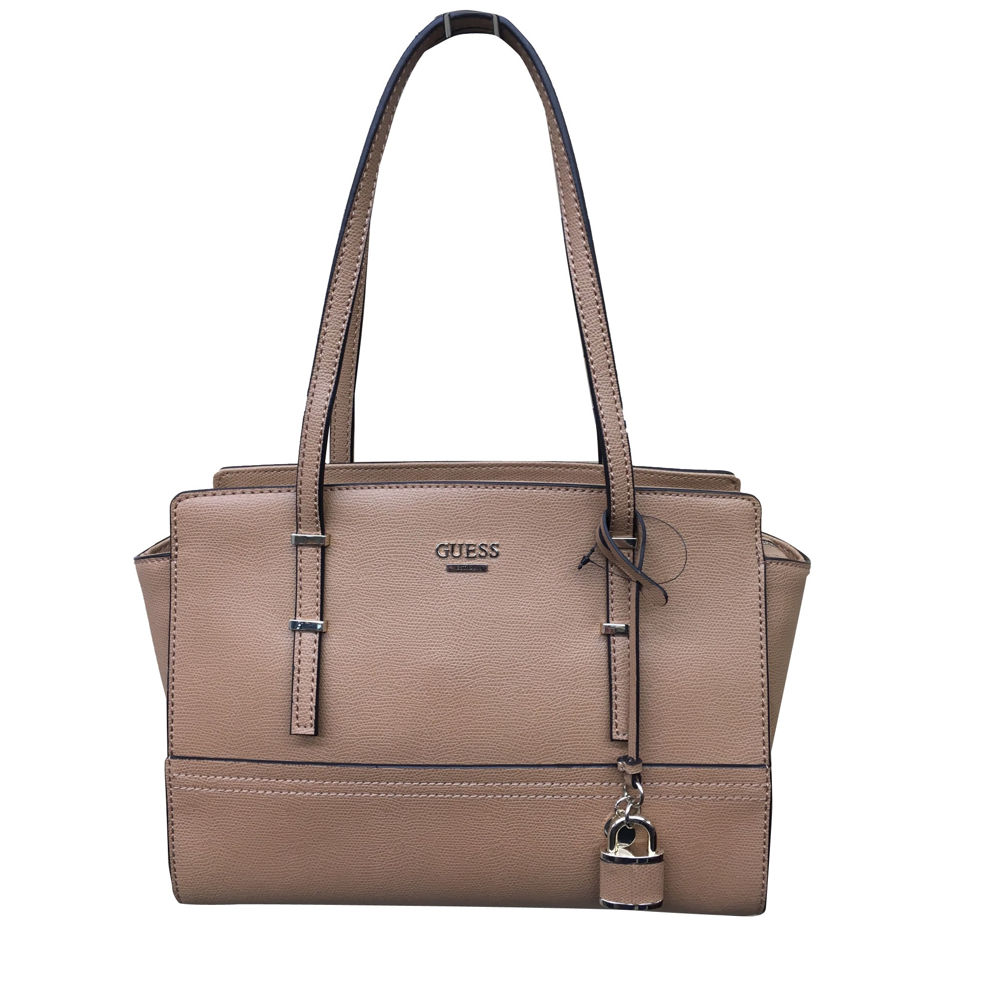 Leather Handbag GUESS Brown