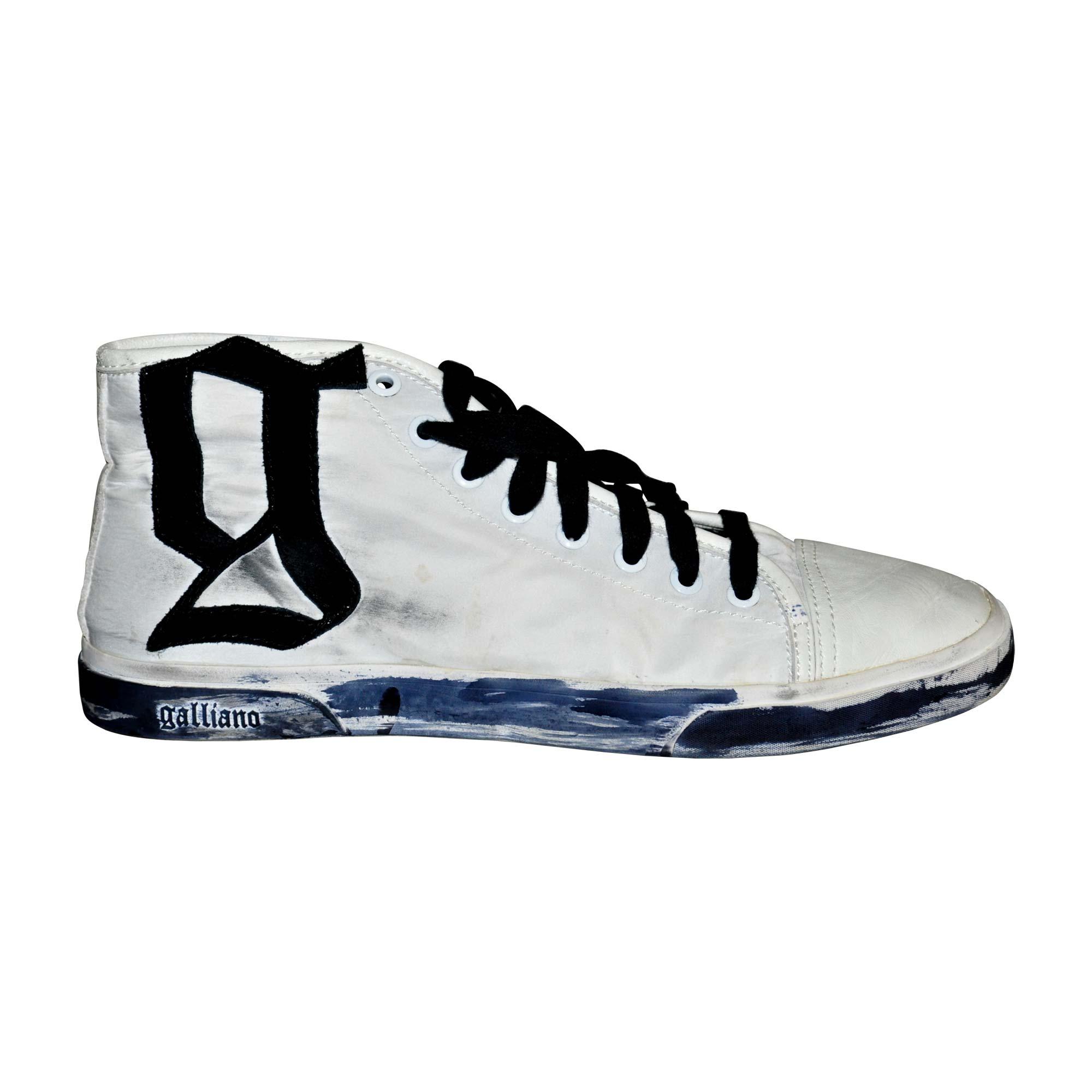 Galliano Blanc Chaussures Sport John 7660695 40 De W8qxBwzgx4