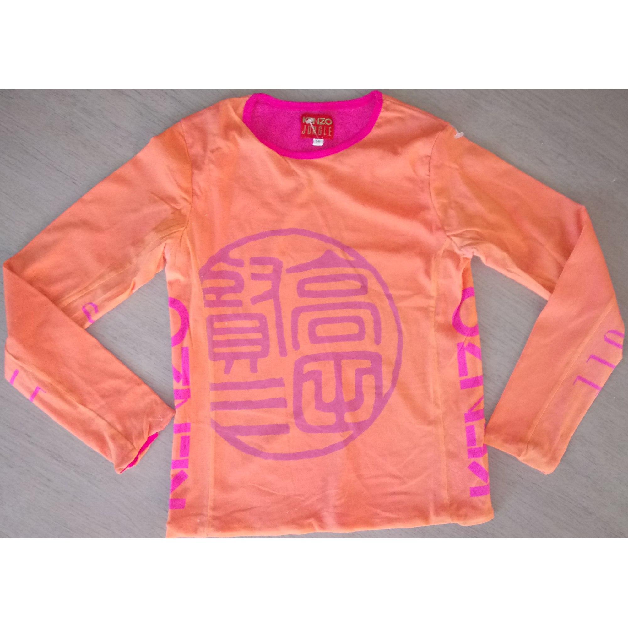 Top, Tee-shirt KENZO polyamide orange 13-14 ans
