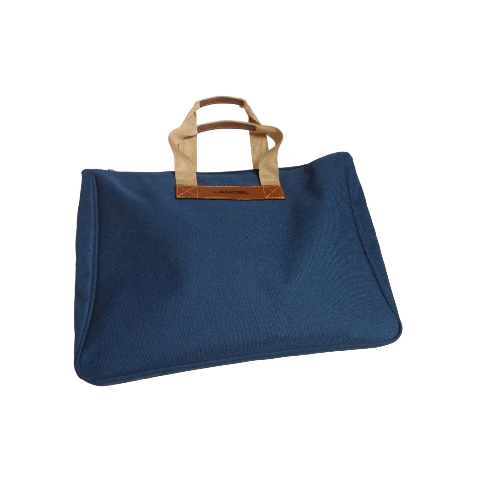 Non-Leather Oversize Bag LANCEL Blue, navy, turquoise