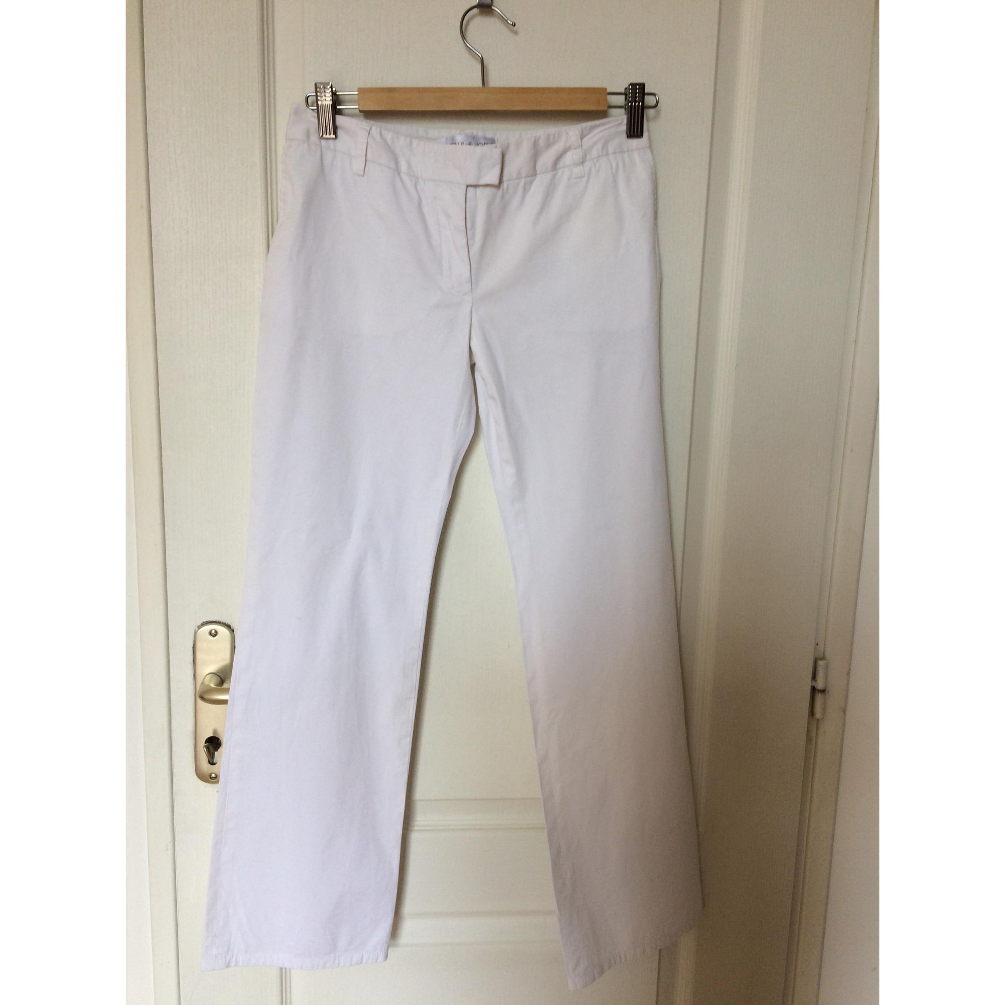 Pantalon droit PAUL & JOE Blanc, blanc cassé, écru