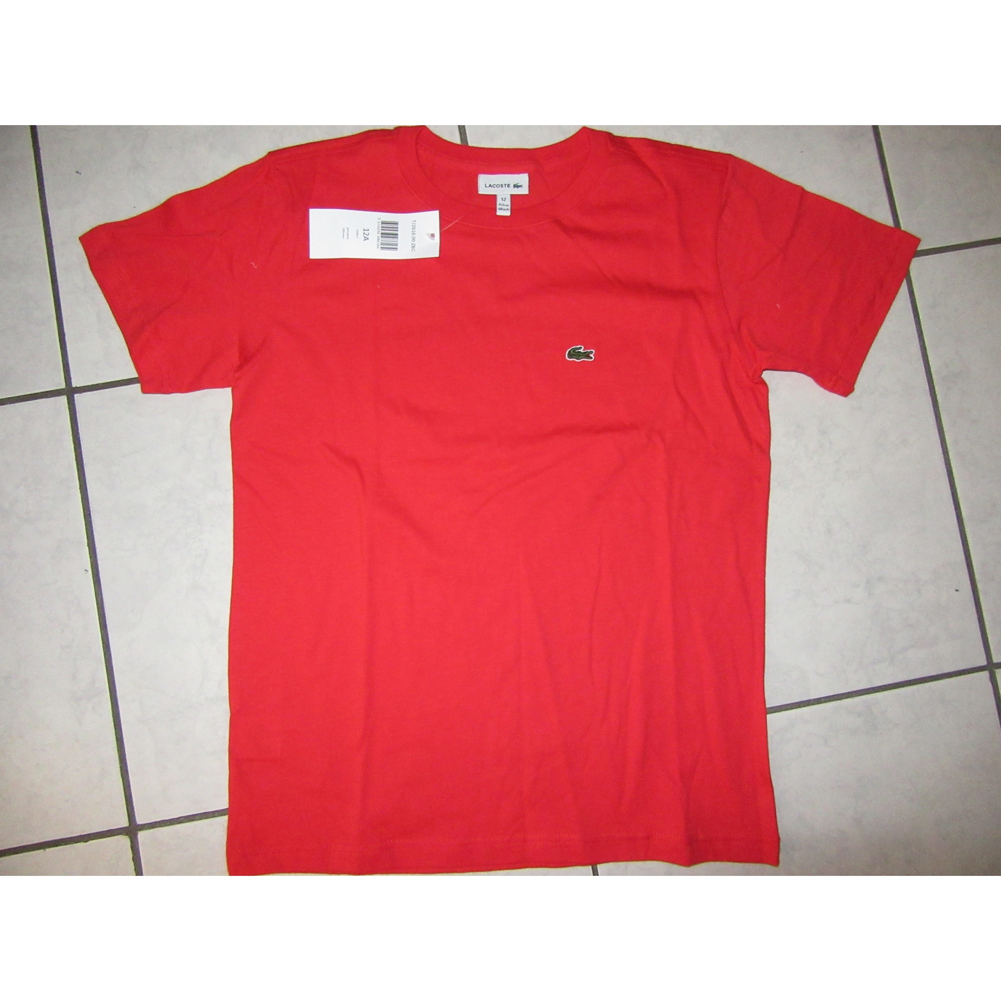 8eea357ae6307 Tee-shirt LACOSTE 11-12 ans rouge - 7681636