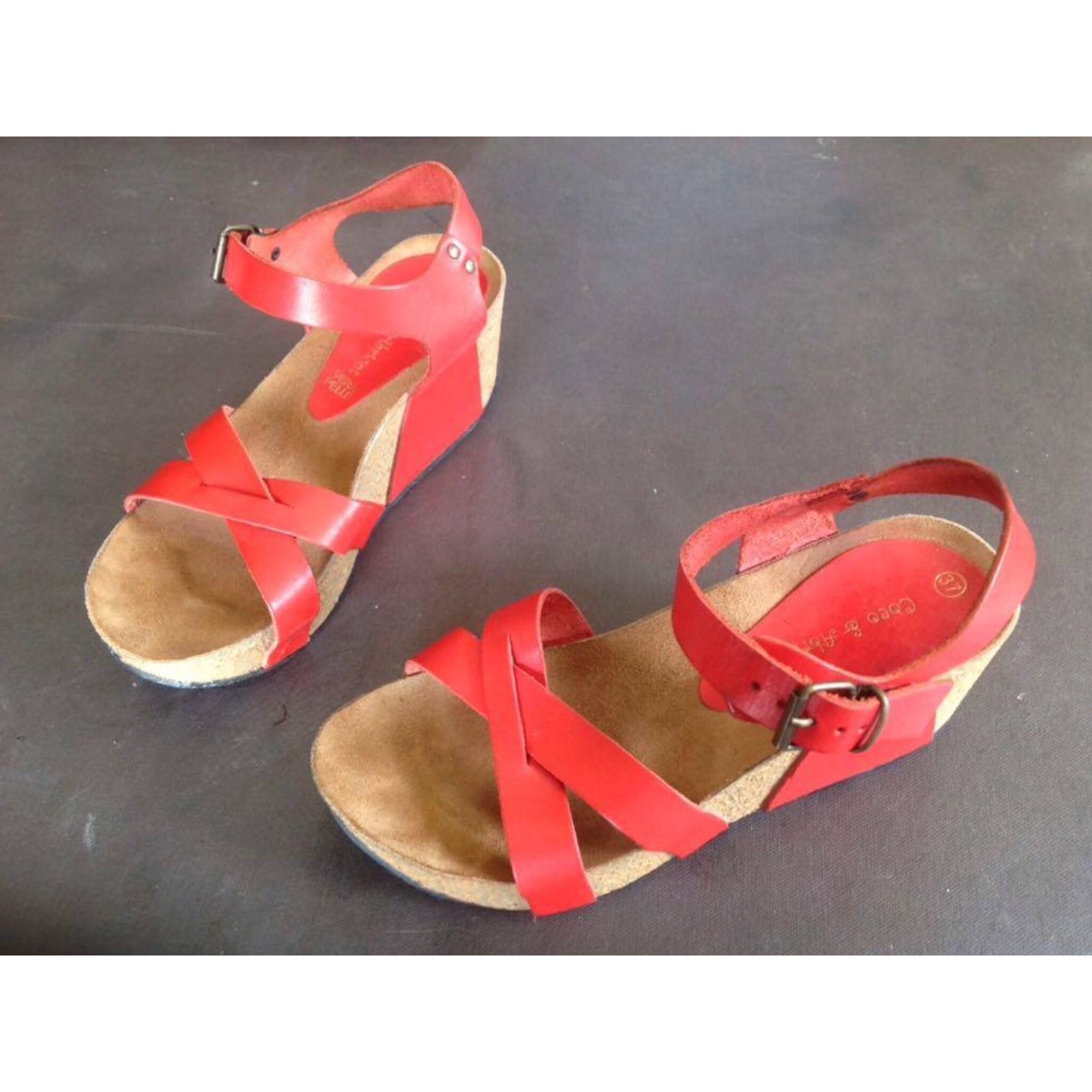 Sandales compensées COCO COCO COCO & ABRICOT 37 rouge 7682237 37f9a0
