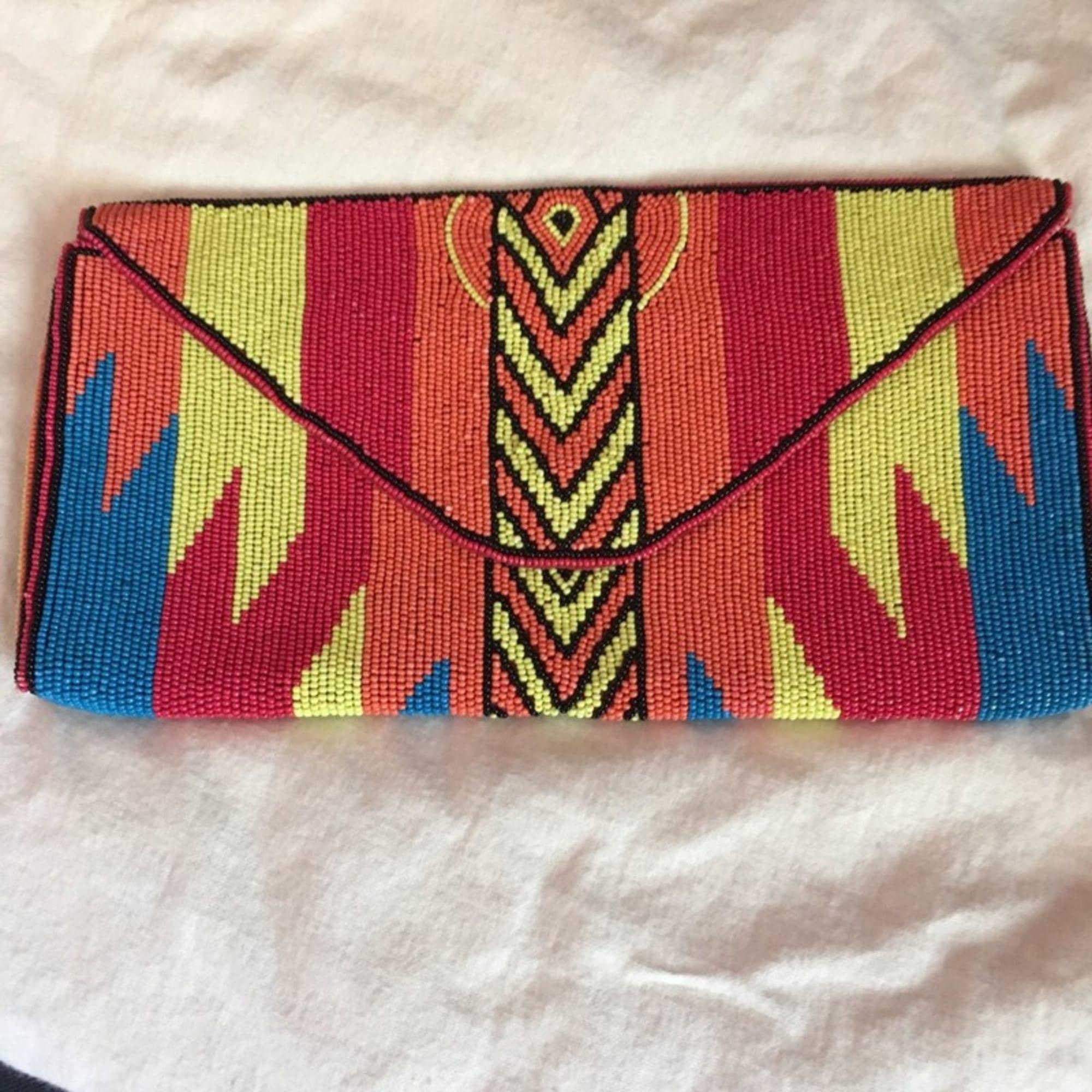 Pochette BA&SH tissu multicolore