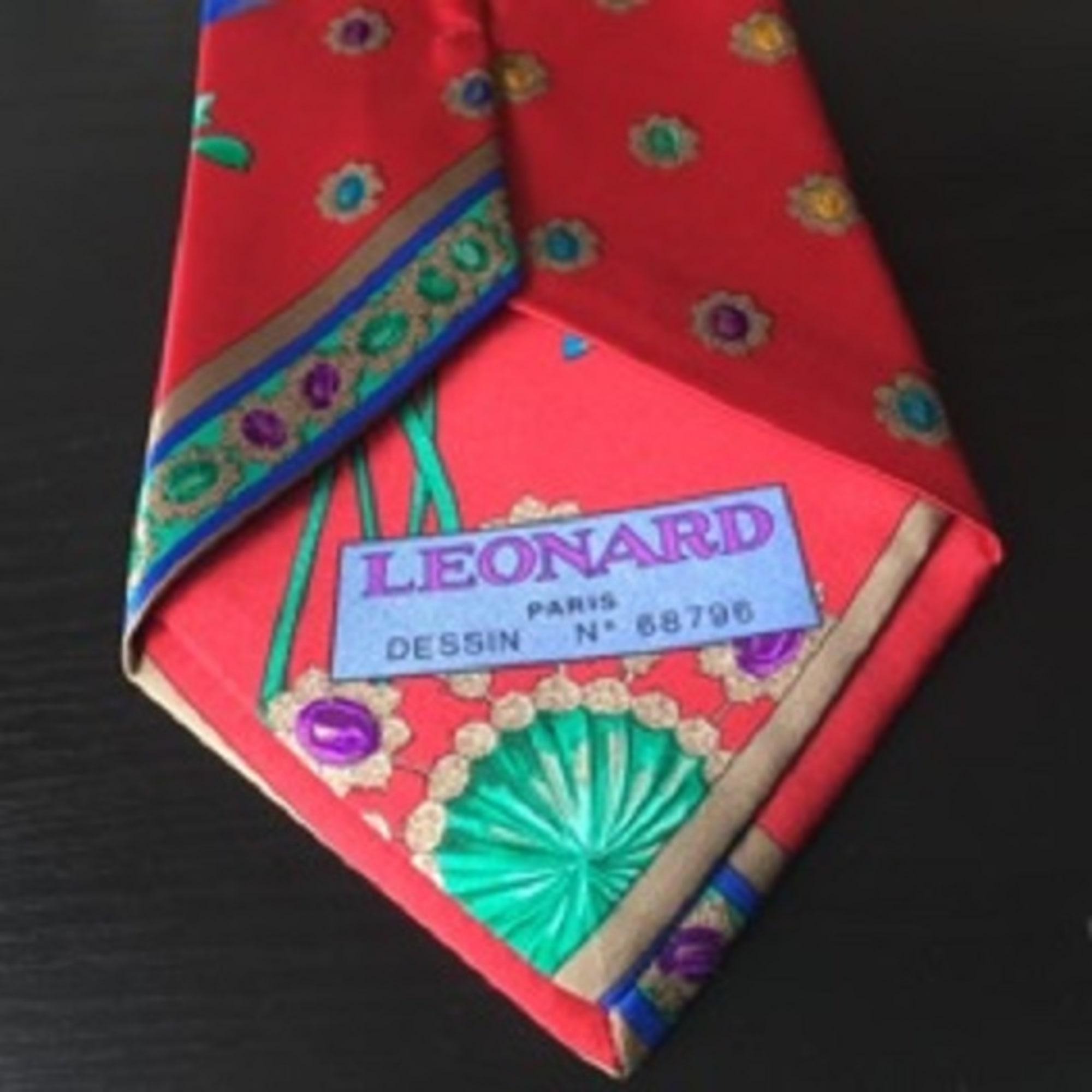 Cravate LEONARD Rouge, bordeaux