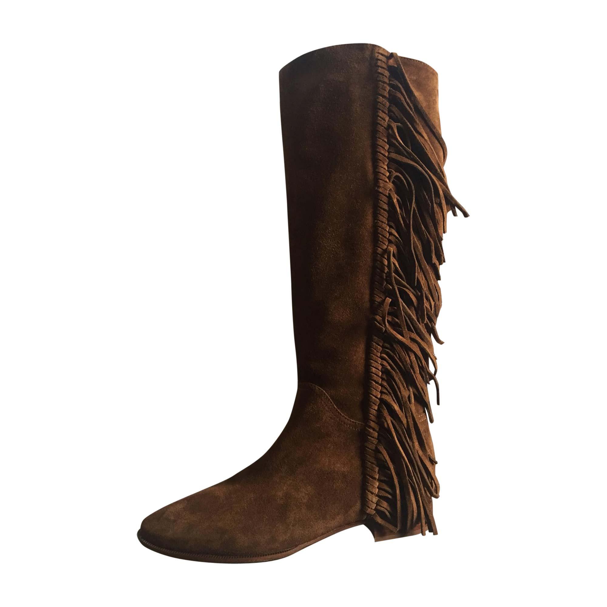 Santiags, bottes cowboy RALPH LAUREN Marron