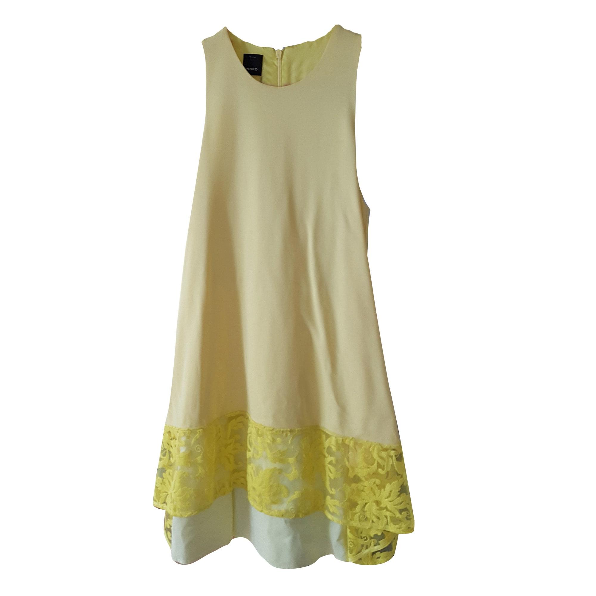 Robe courte PINKO 36 (S, T1) jaune - 7697808 5280787c4a8f