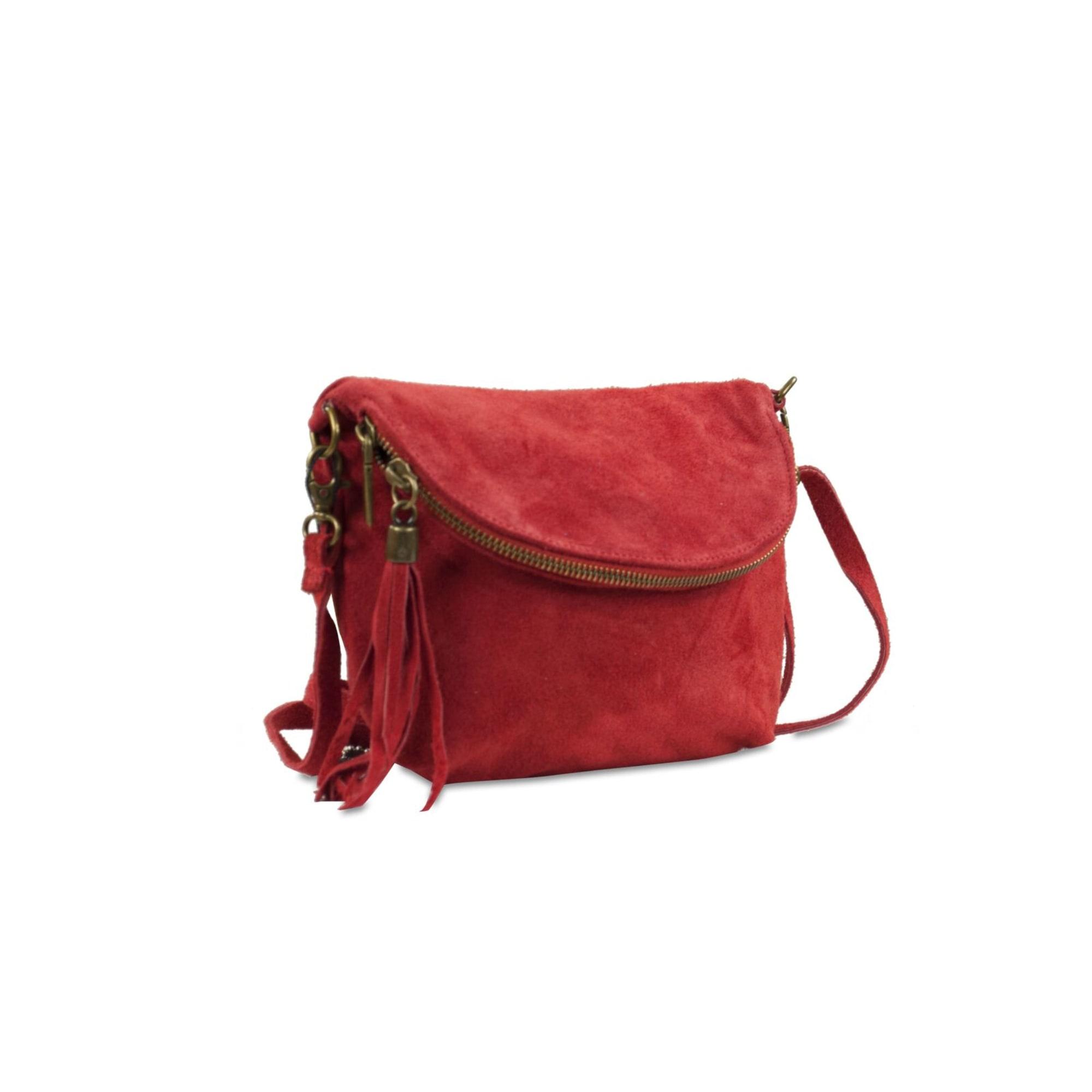 en en cuir Rouge BELOTTI bandoulière bordeaux Sac CARLA E1dq1F