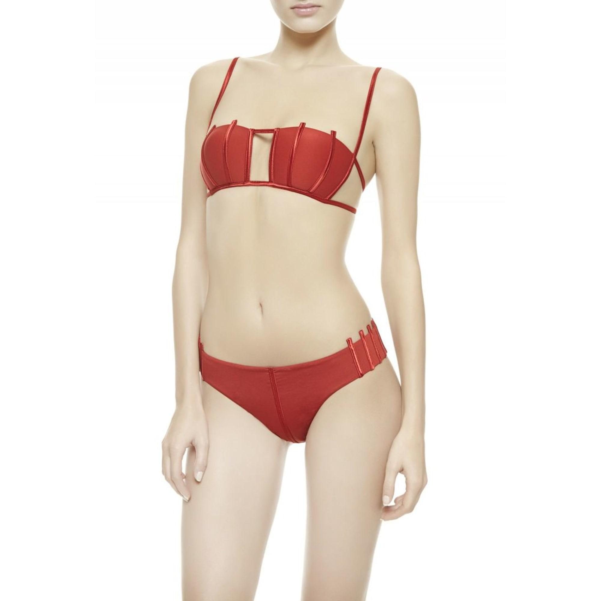 maillot de bain deux pi ces la perla 38 m t2 rouge. Black Bedroom Furniture Sets. Home Design Ideas