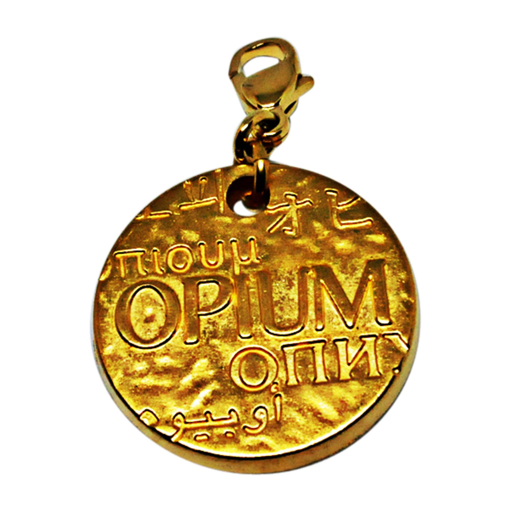 97b2aff46e3 Pendant, Pendant Necklace YVES SAINT LAURENT Golden, bronze, copper