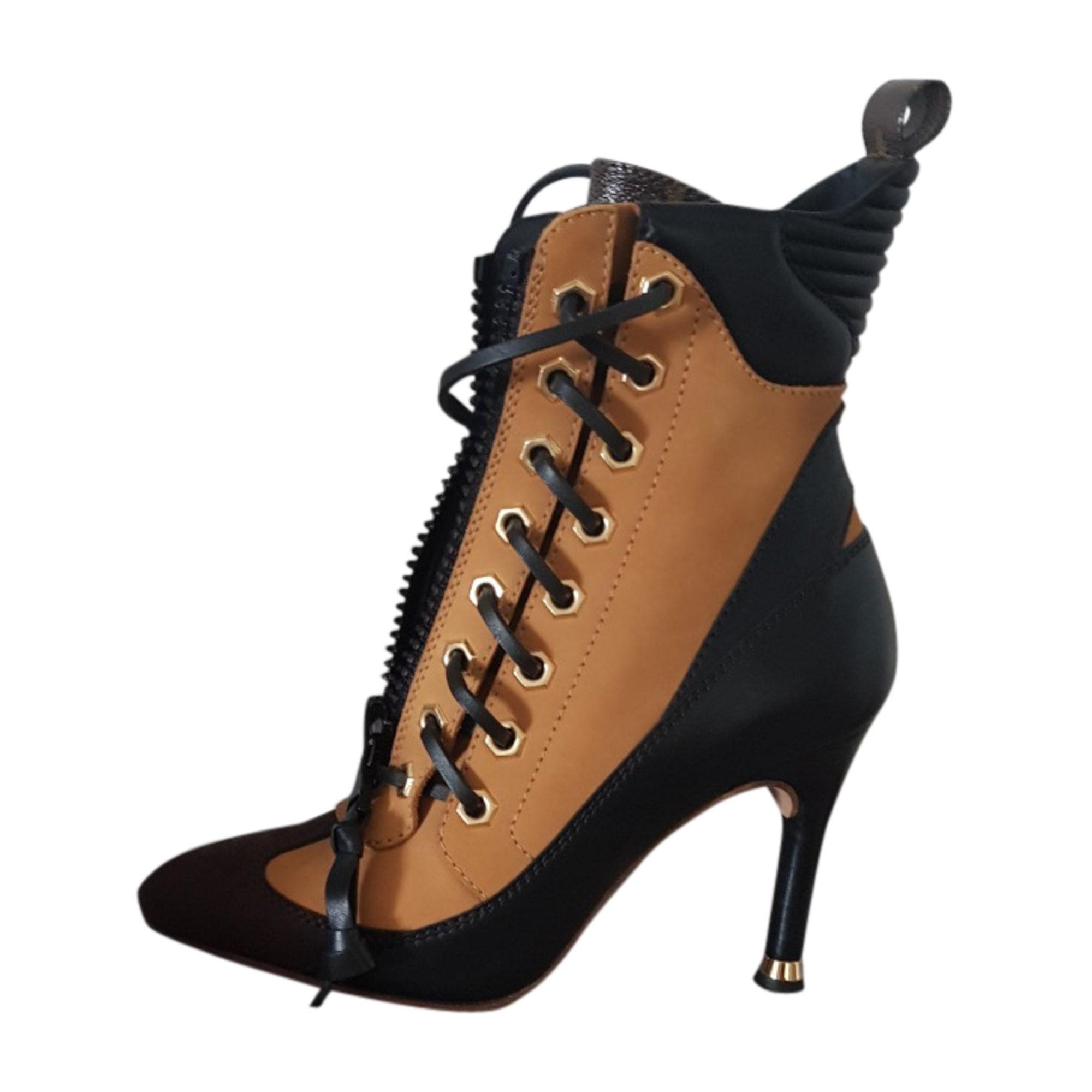 40cd4513b60 High Heel Ankle Boots LOUIS VUITTON 36 beige - 7701703