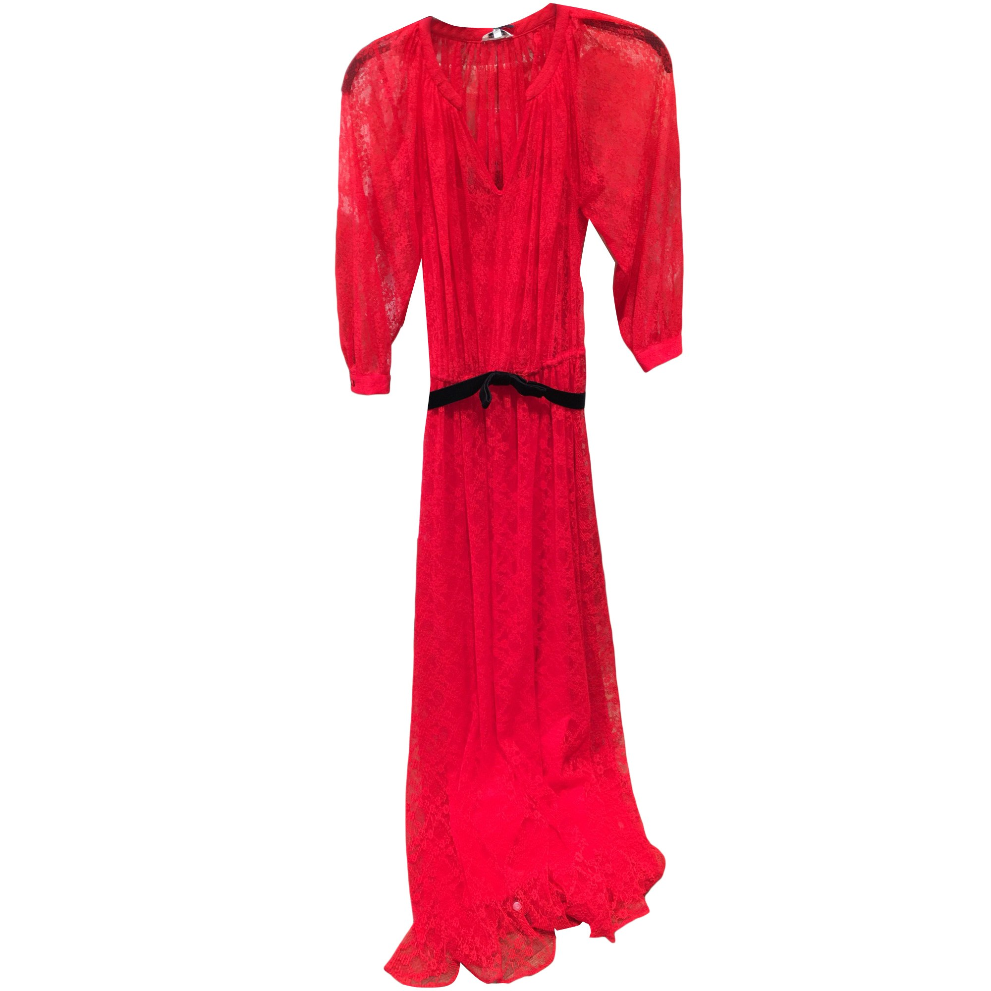 16ab97f2fdd Robe longue MANOUSH Rouge coquelicot