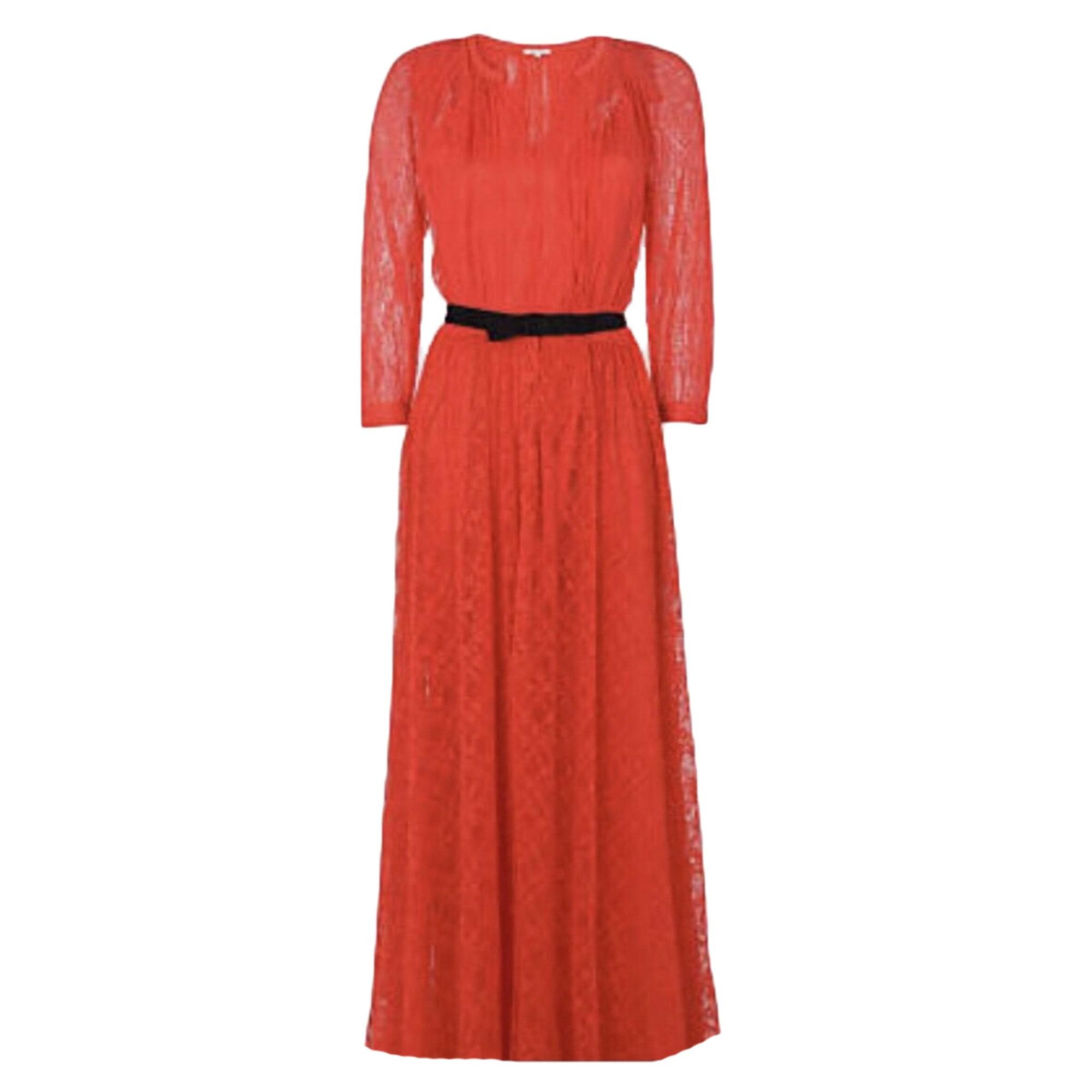 165434ed226 Robe longue MANOUSH Rouge corail