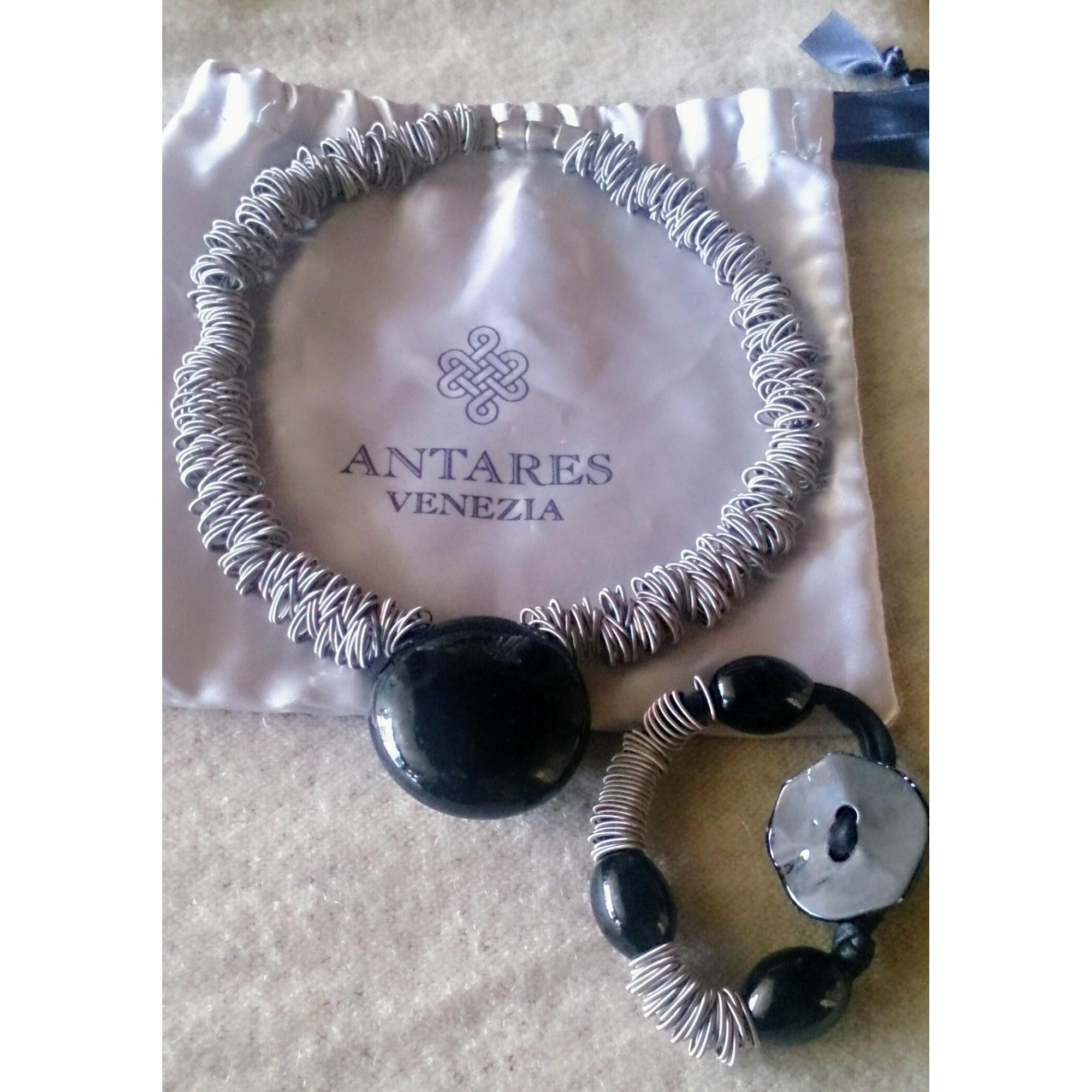 Parure bijoux ANTARES VENEZIA verre noir