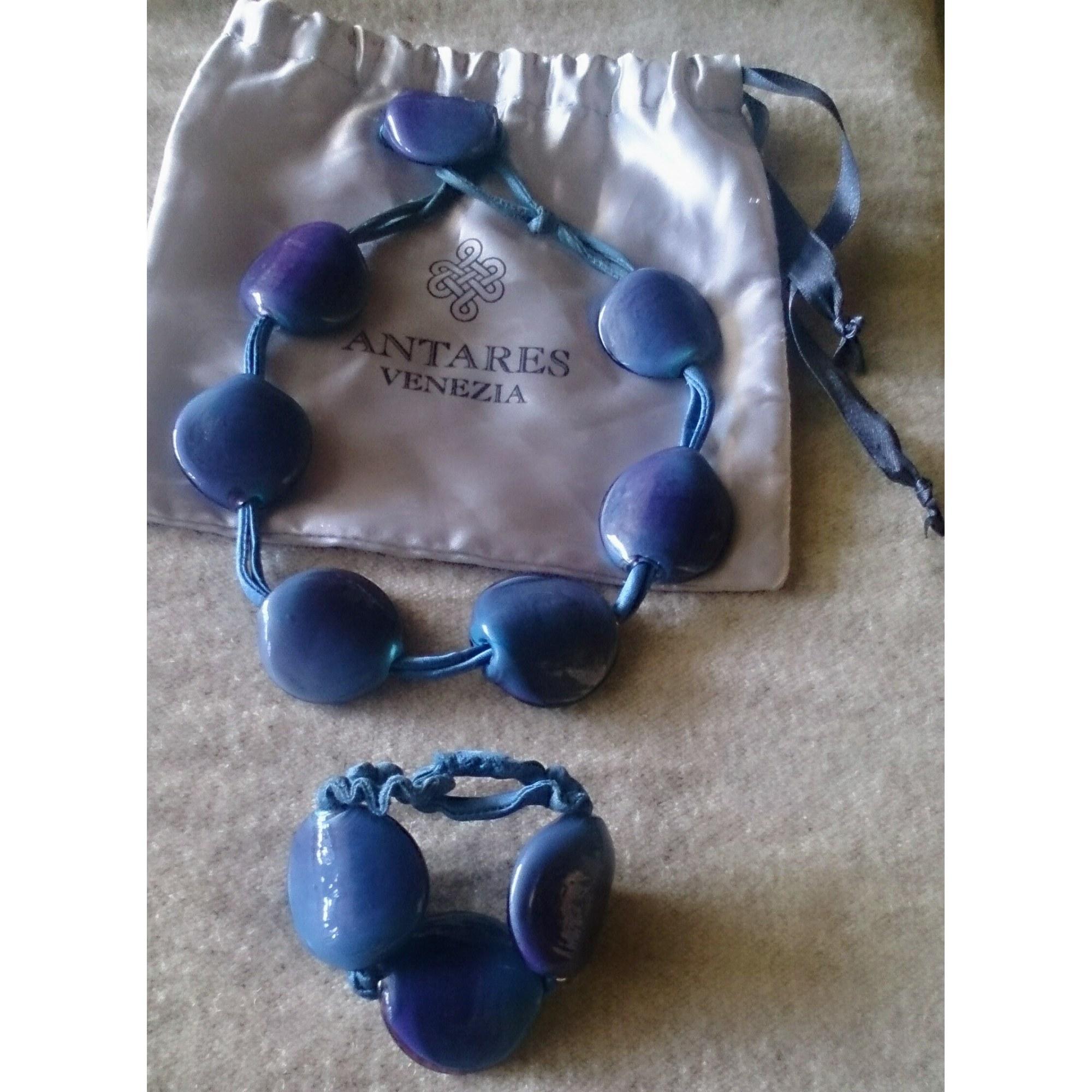 Parure bijoux ANTARES VENEZIA verre bleu
