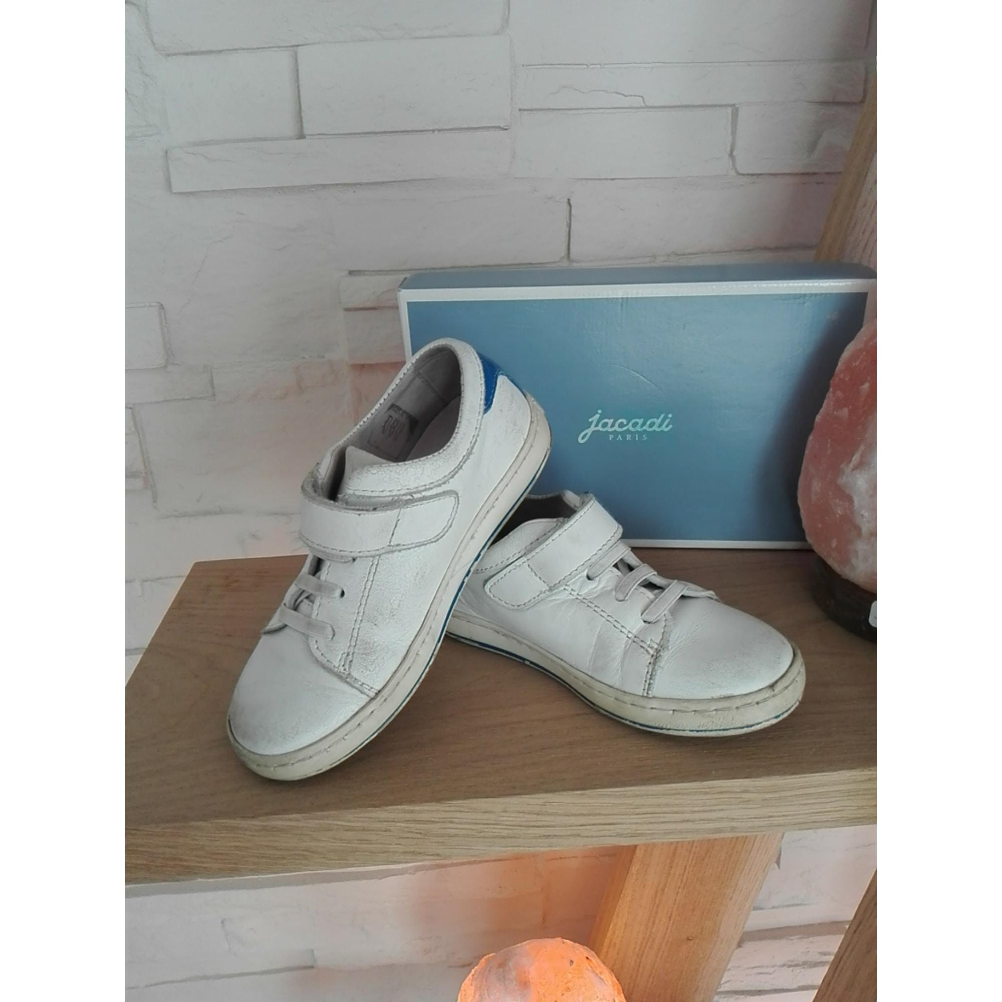 Chaussures à scratch JACADI Blanc, blanc cassé, écru