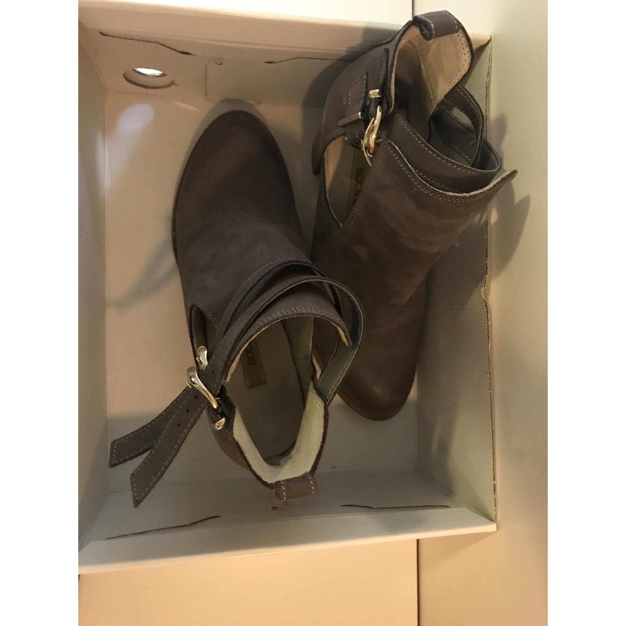 Bottines & low boots à talons BOCAGE Gris, anthracite