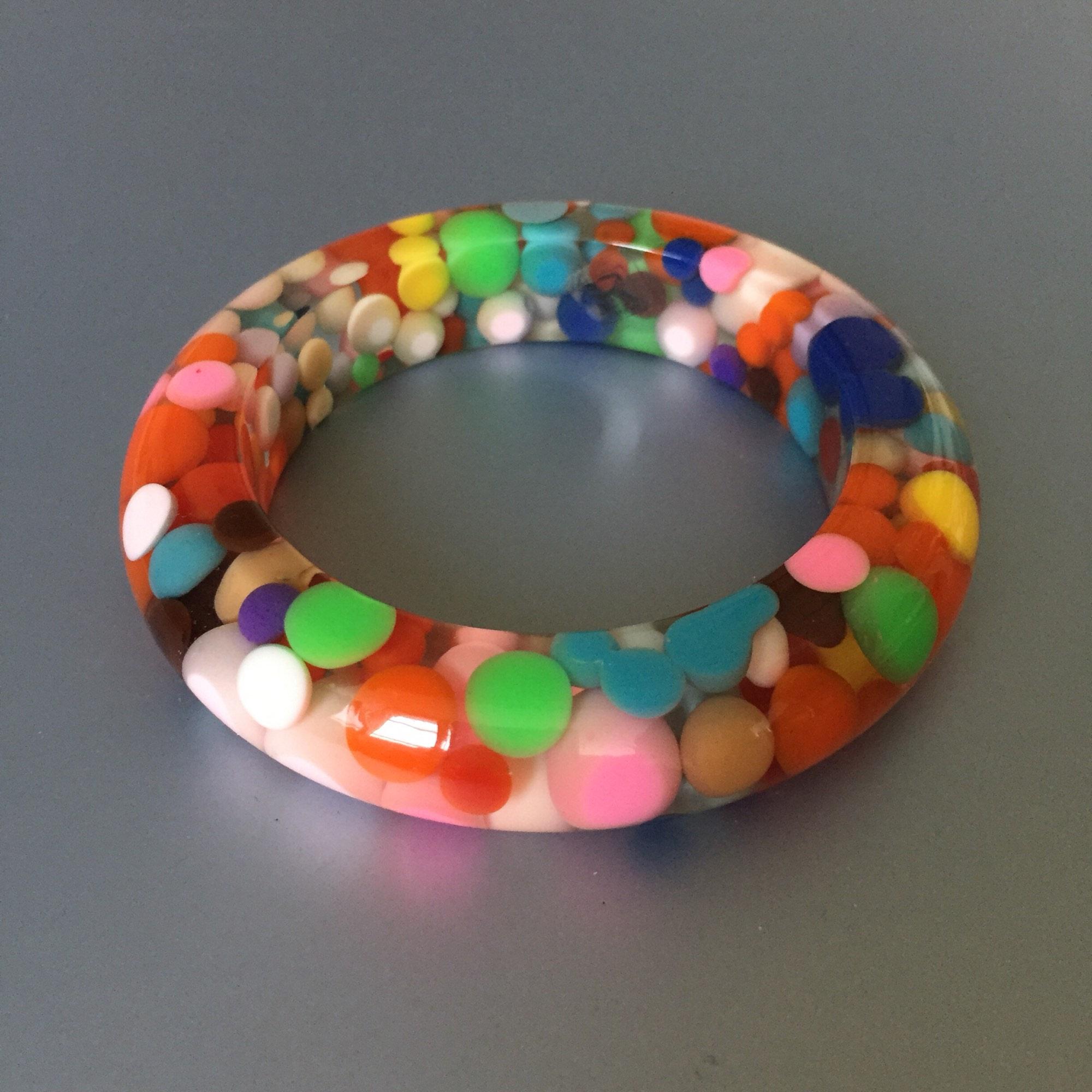 Bracelet SOBRAL résine multicolore