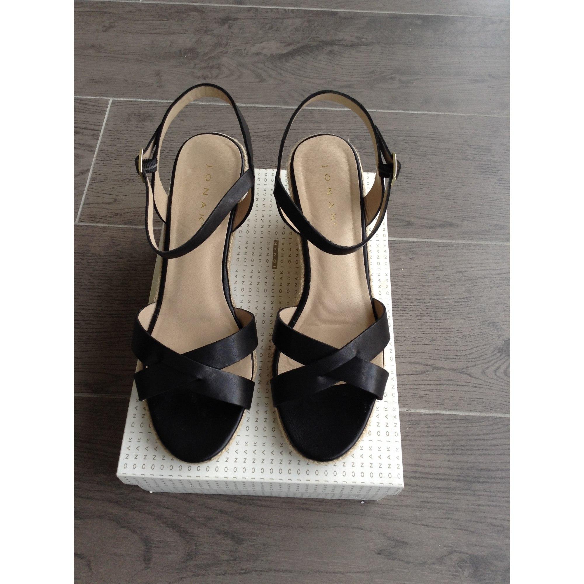 1d73753a70c Sandales compensées JONAK 40 noir - 7710488