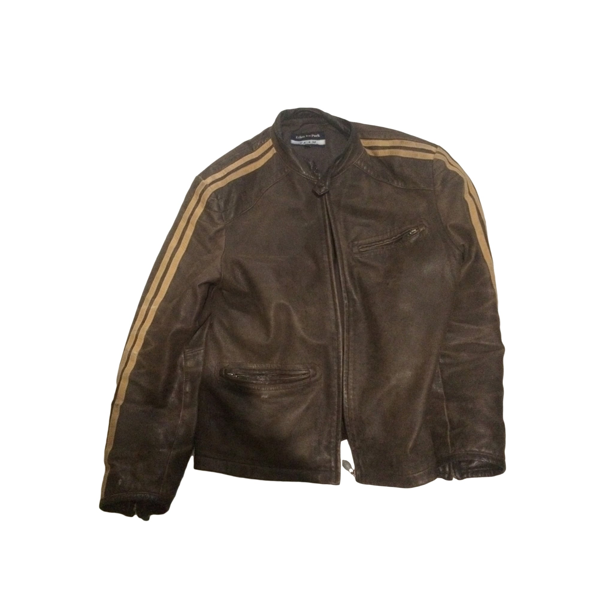 Veste en cuir EDEN PARK 50 (M) marron vieilli patiné 6057217