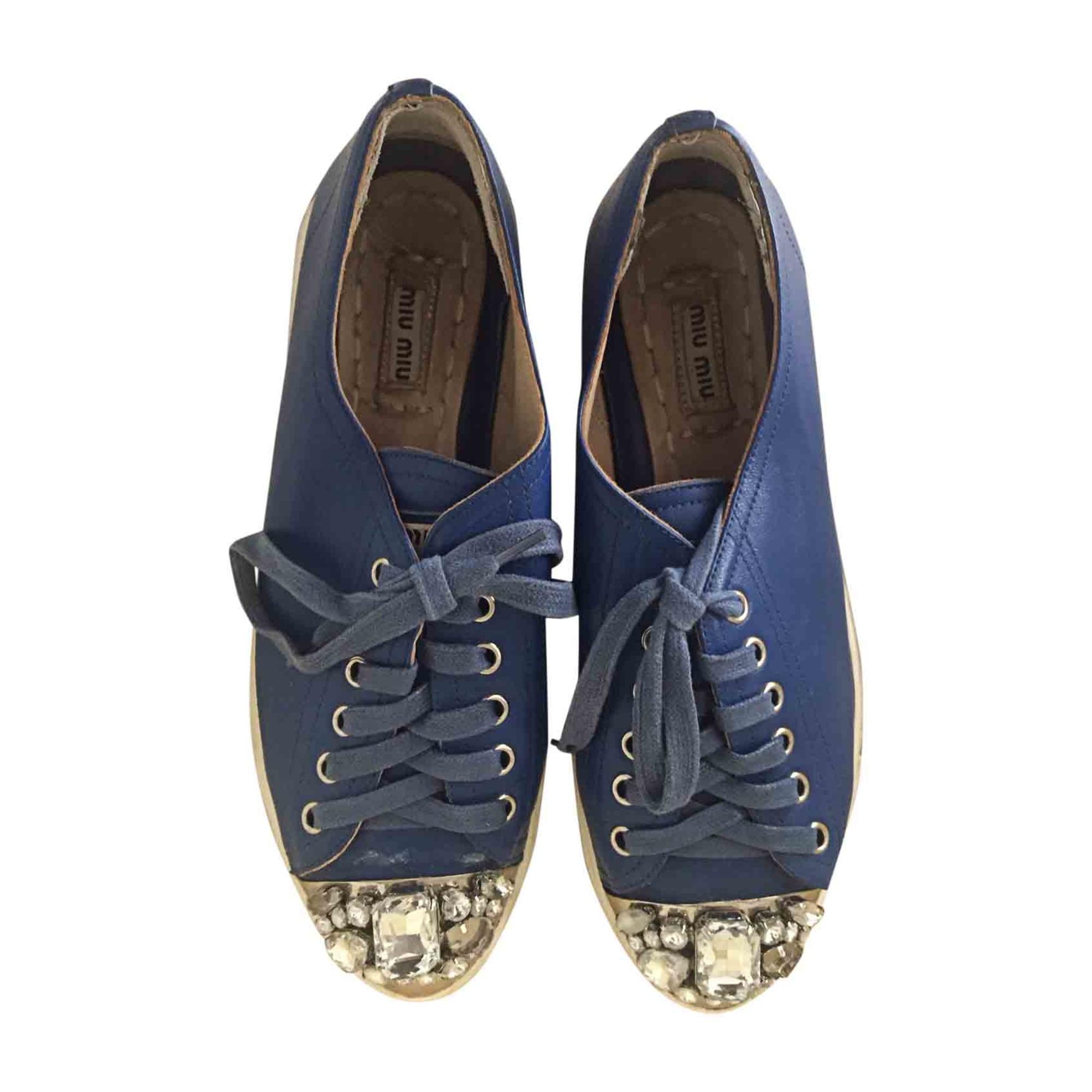 Sneakers MIU MIU Embellished Blue, navy, turquoise