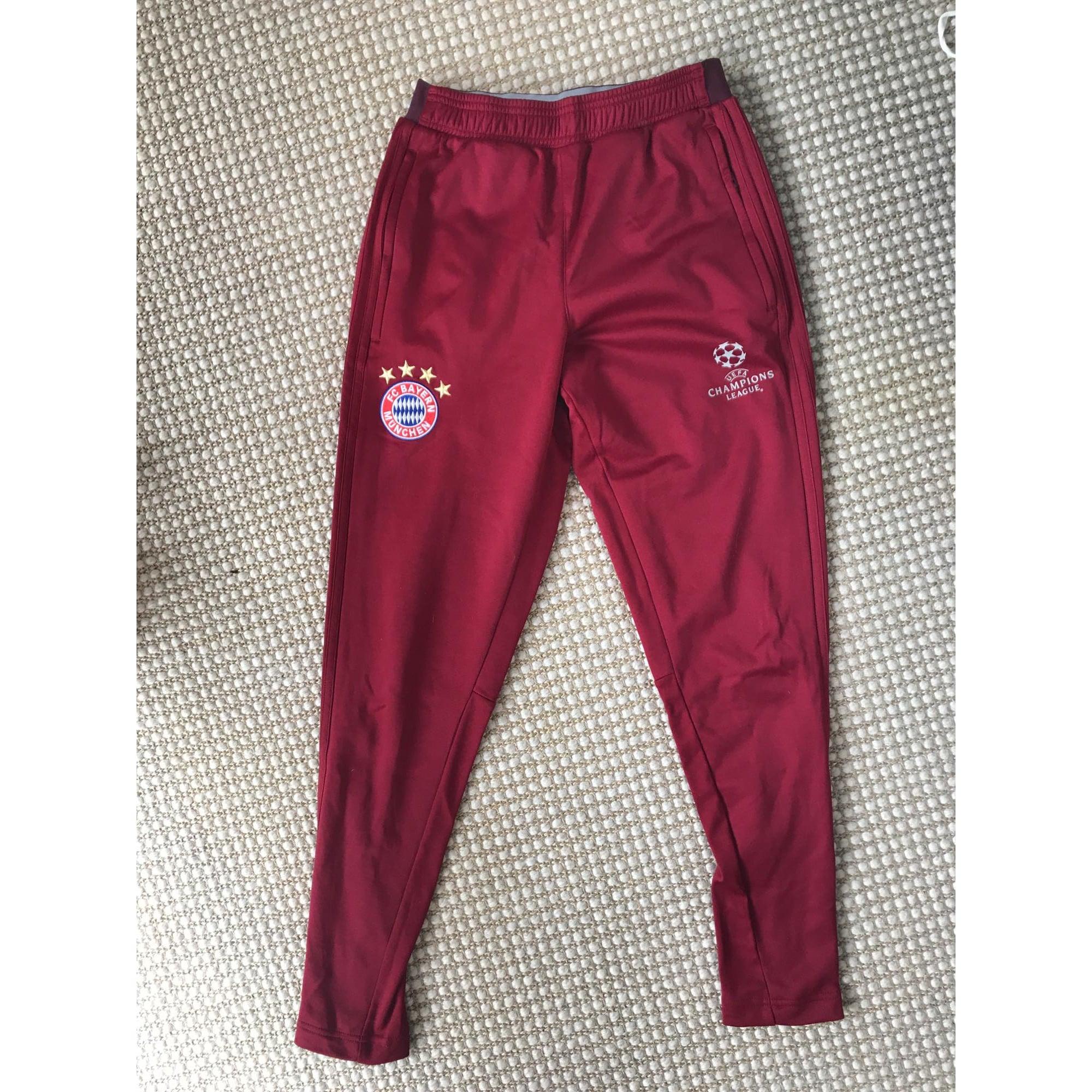 ae39bdc98f010 Pantalon de survêtement ADIDAS 15-16 ans rouge - 7717307