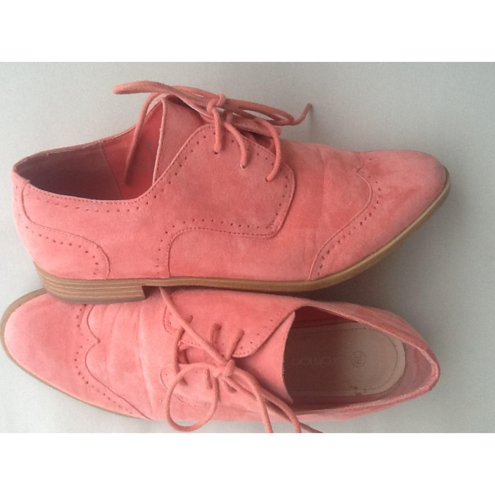 Chaussures à lacets  PROMOD Abricot/peche