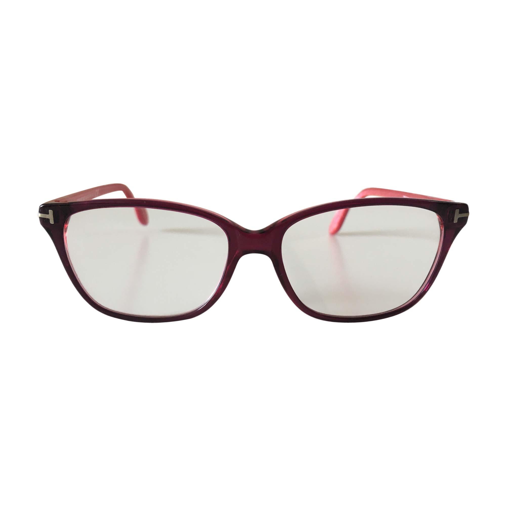 Monture de lunettes TOM FORD bordeaux et rose foncé - 7718296 418898f3d3c6