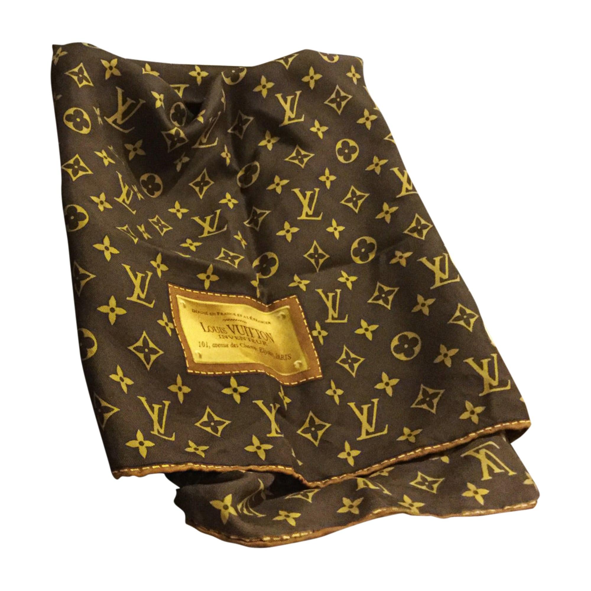 Foulard LOUIS VUITTON marron vendu par Lilia87 - 7723062 3967229a255