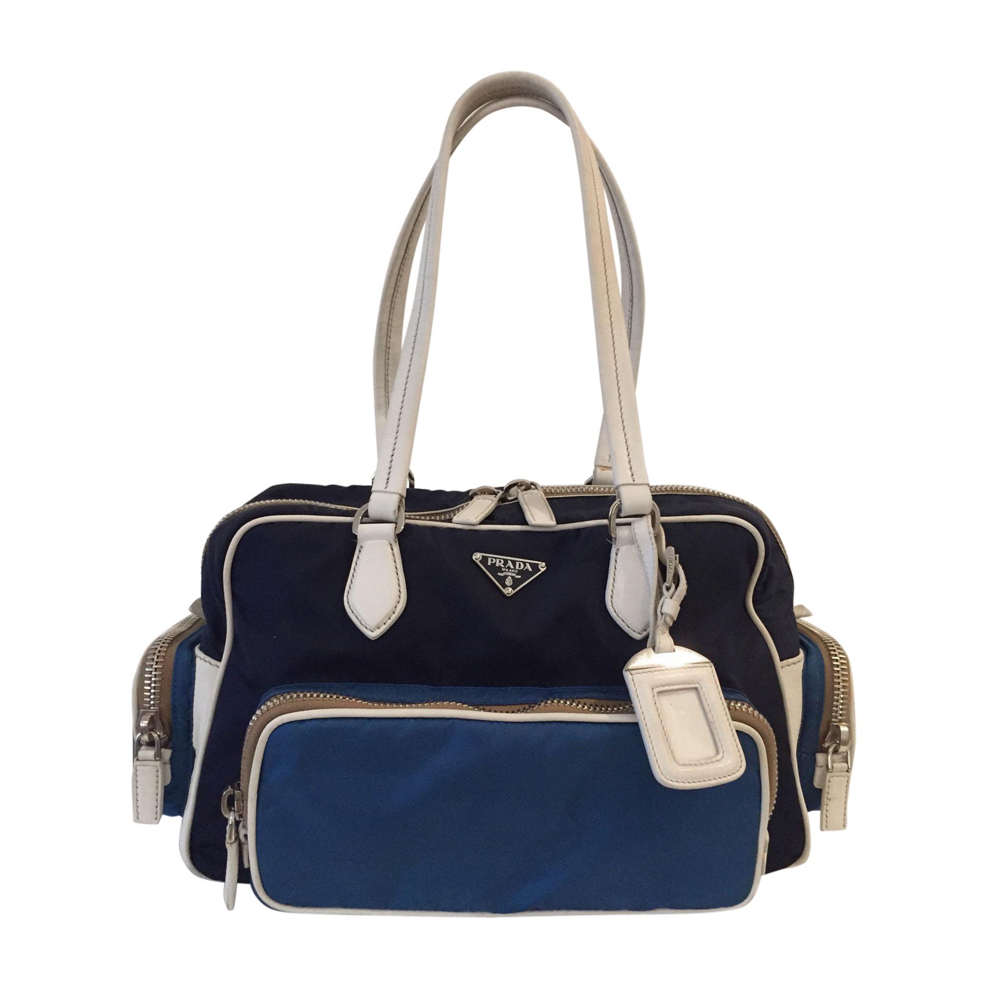 29a7ce74d72021 Leather Handbag PRADA Blue, navy, turquoise