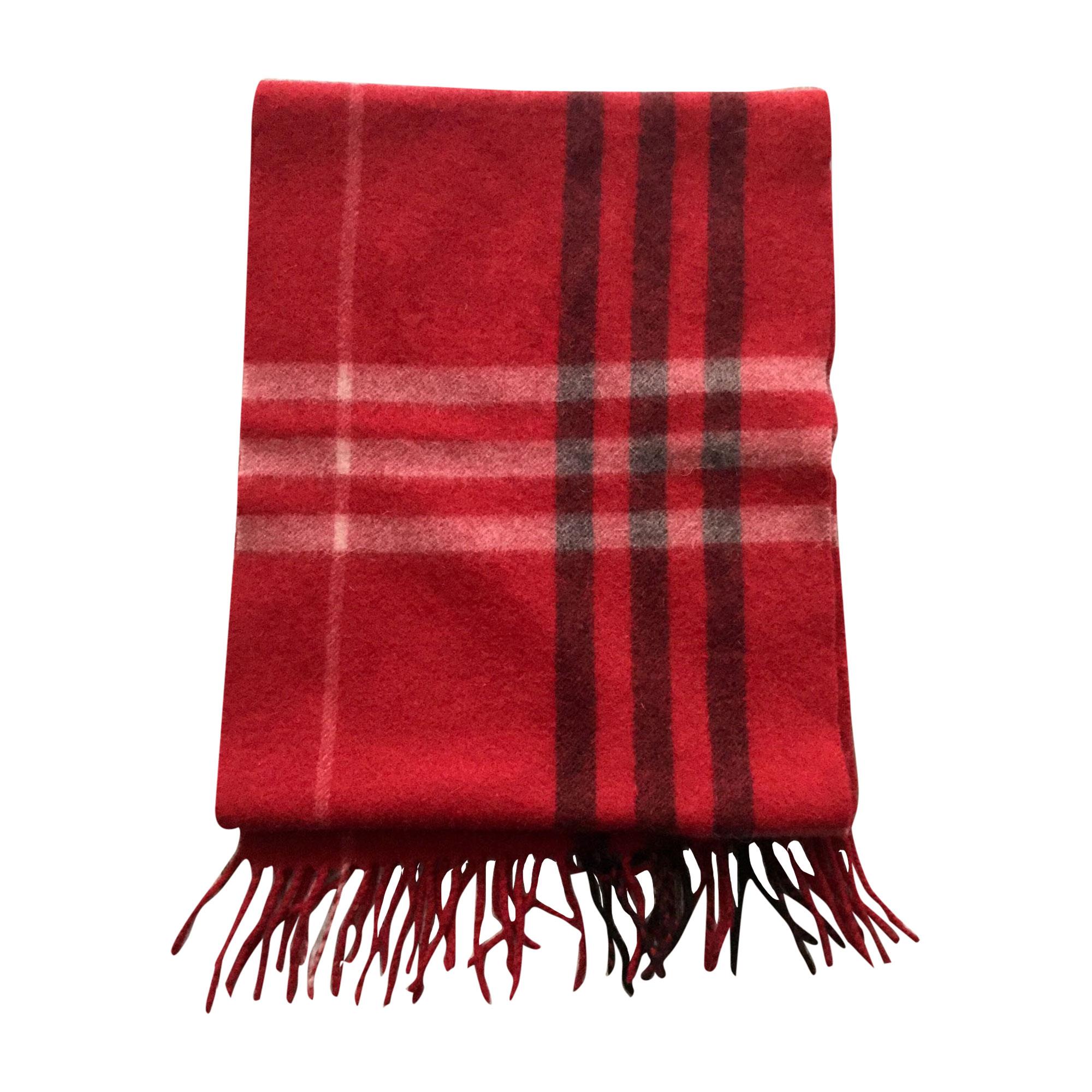 Echarpe BURBERRY rouge vendu par Fredshaved - 7734558 e46d107c070