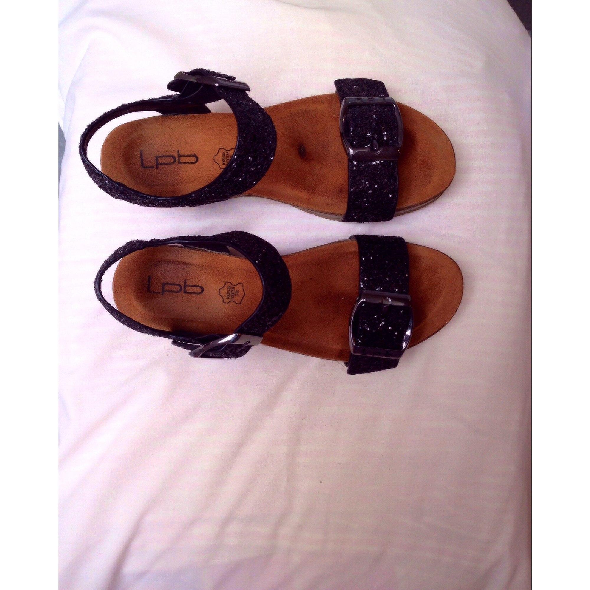 Sandales compensées LPB LES P'TITES BOMBES Noir