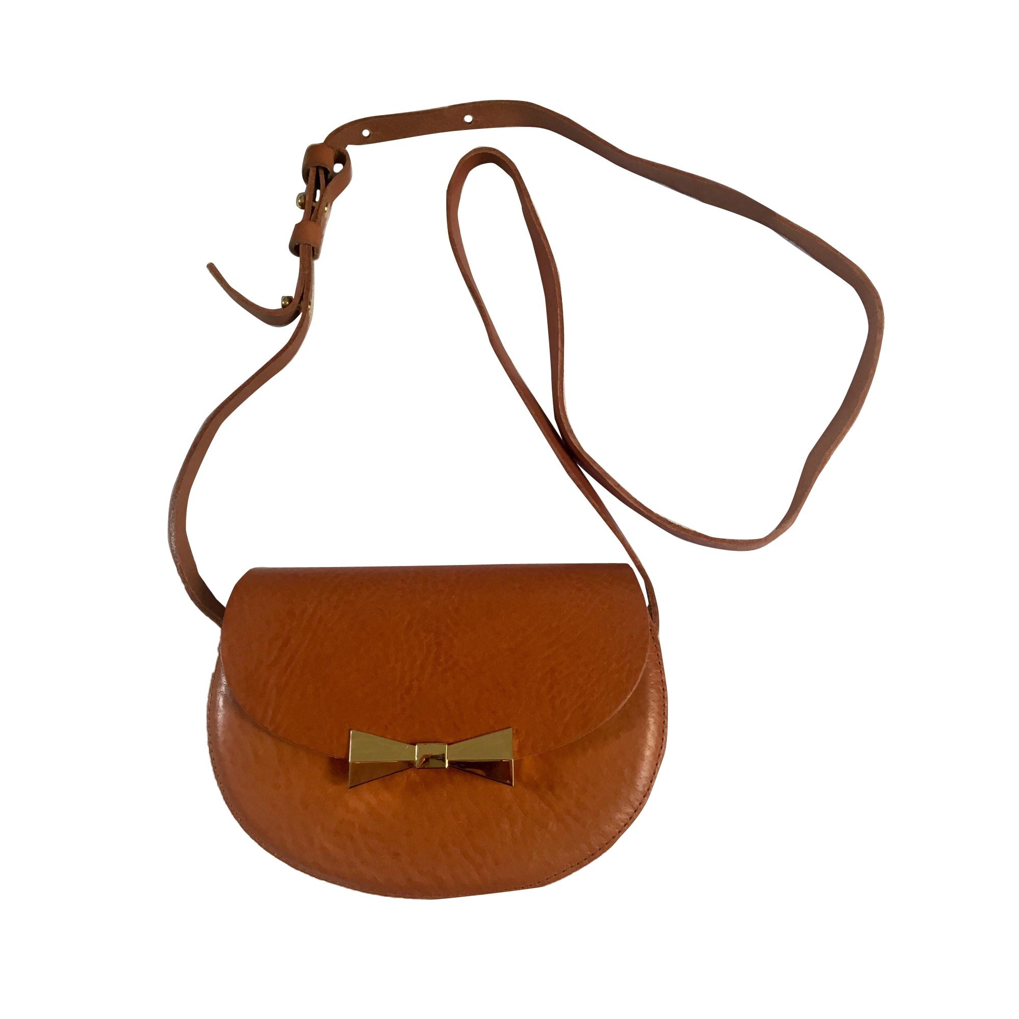 Leather Shoulder Bag DES PETITS HAUTS Cuir naturel