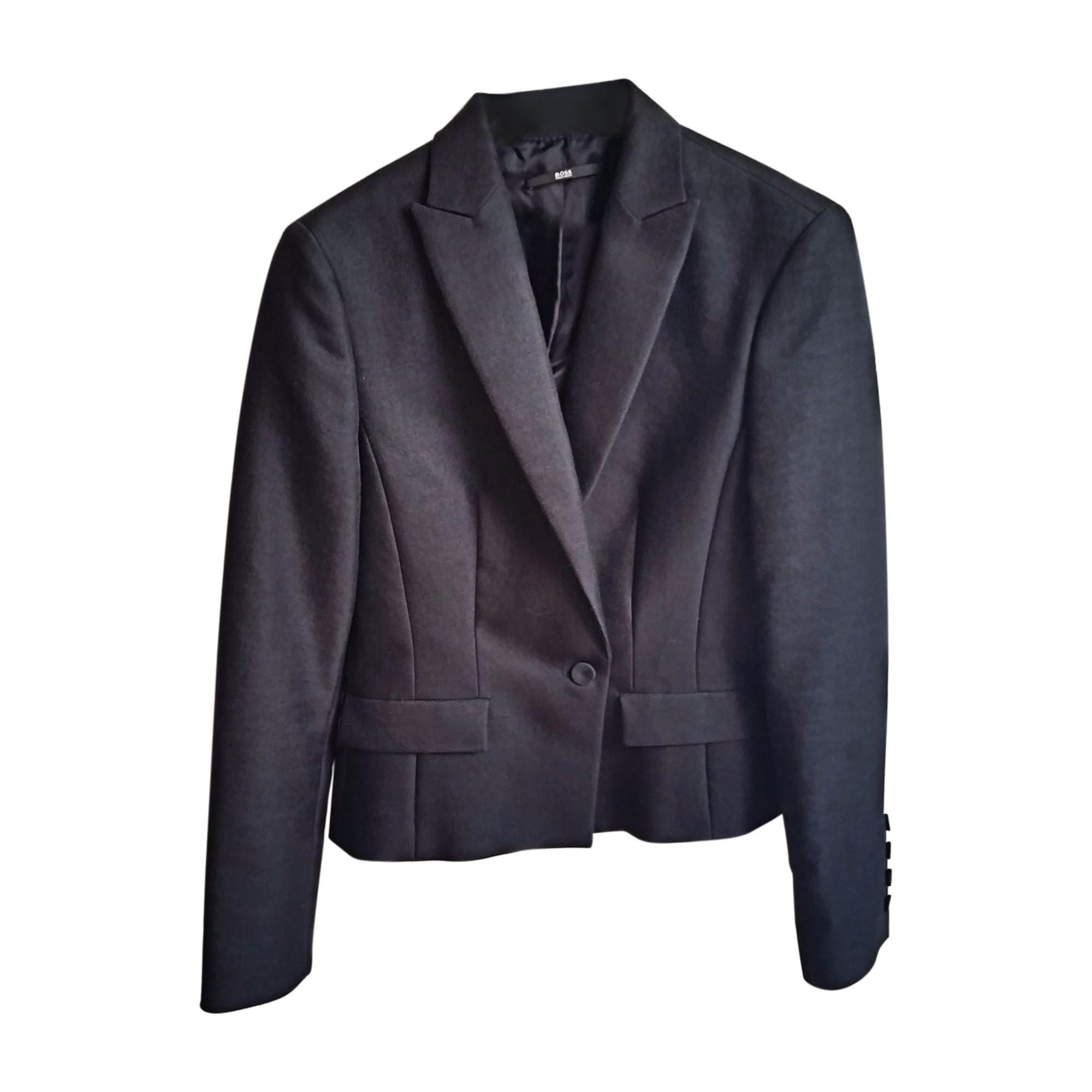 blazer veste tailleur hugo boss 40 l t3 noir 7736753. Black Bedroom Furniture Sets. Home Design Ideas