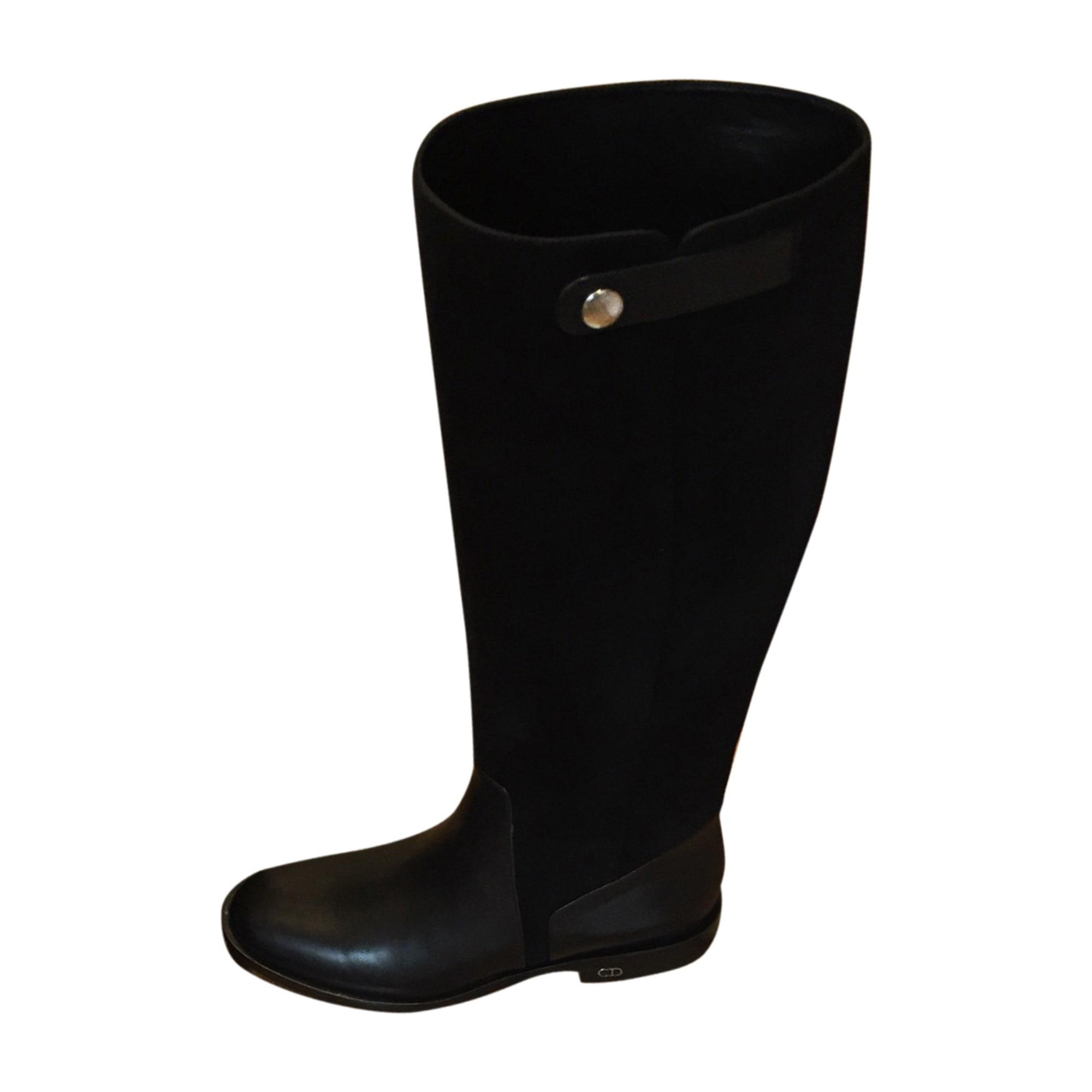 Bottes cavalières DIOR 37 noir vendu par Christiandupont - 7737139 96fe7a31aad