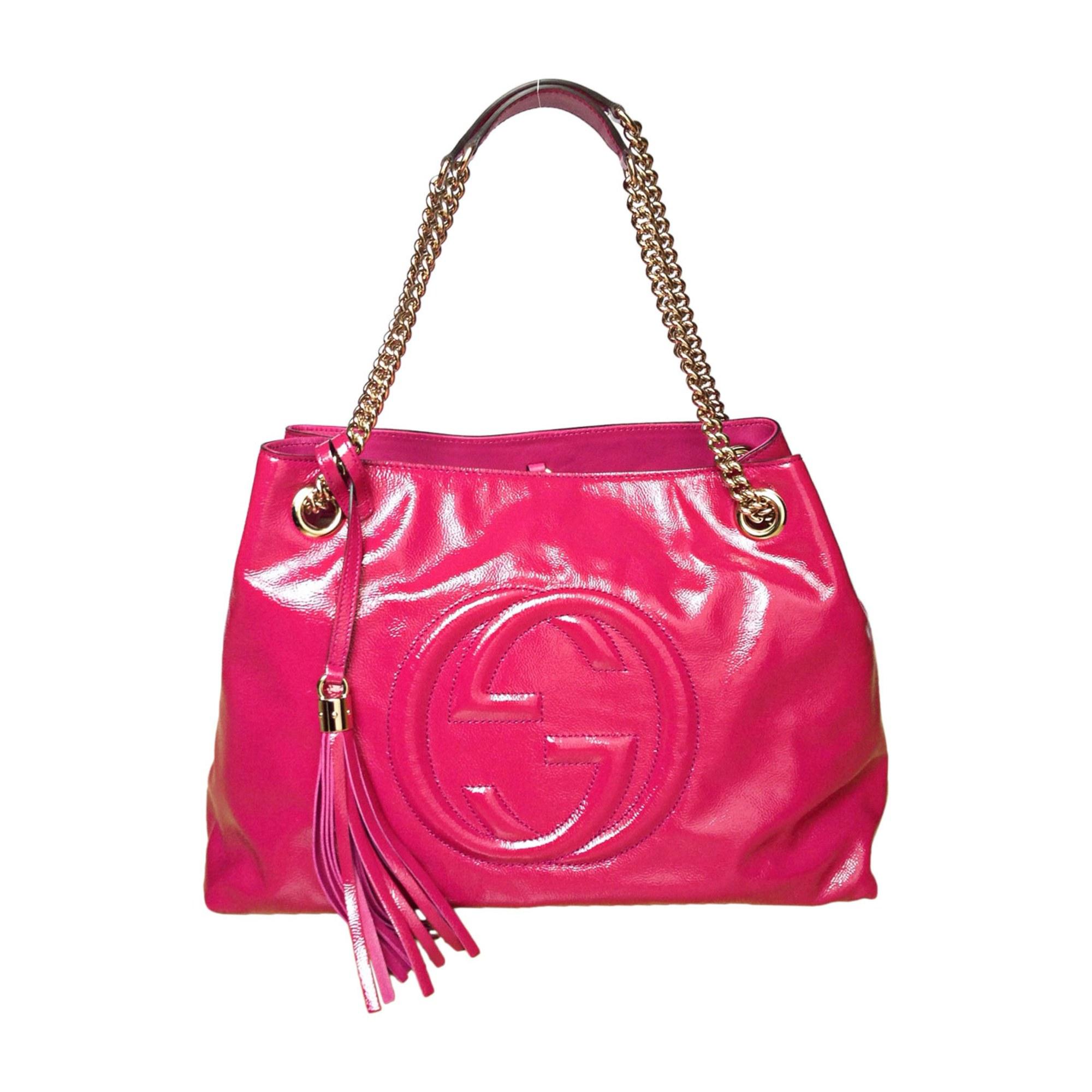 bec478255b4e Sac à main en cuir GUCCI soho rose vendu par Geraldine m - 7739040