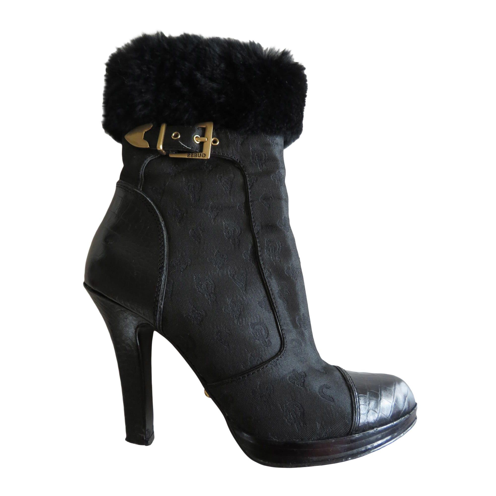 Bottines & low boots à compensés cuir 37,5
