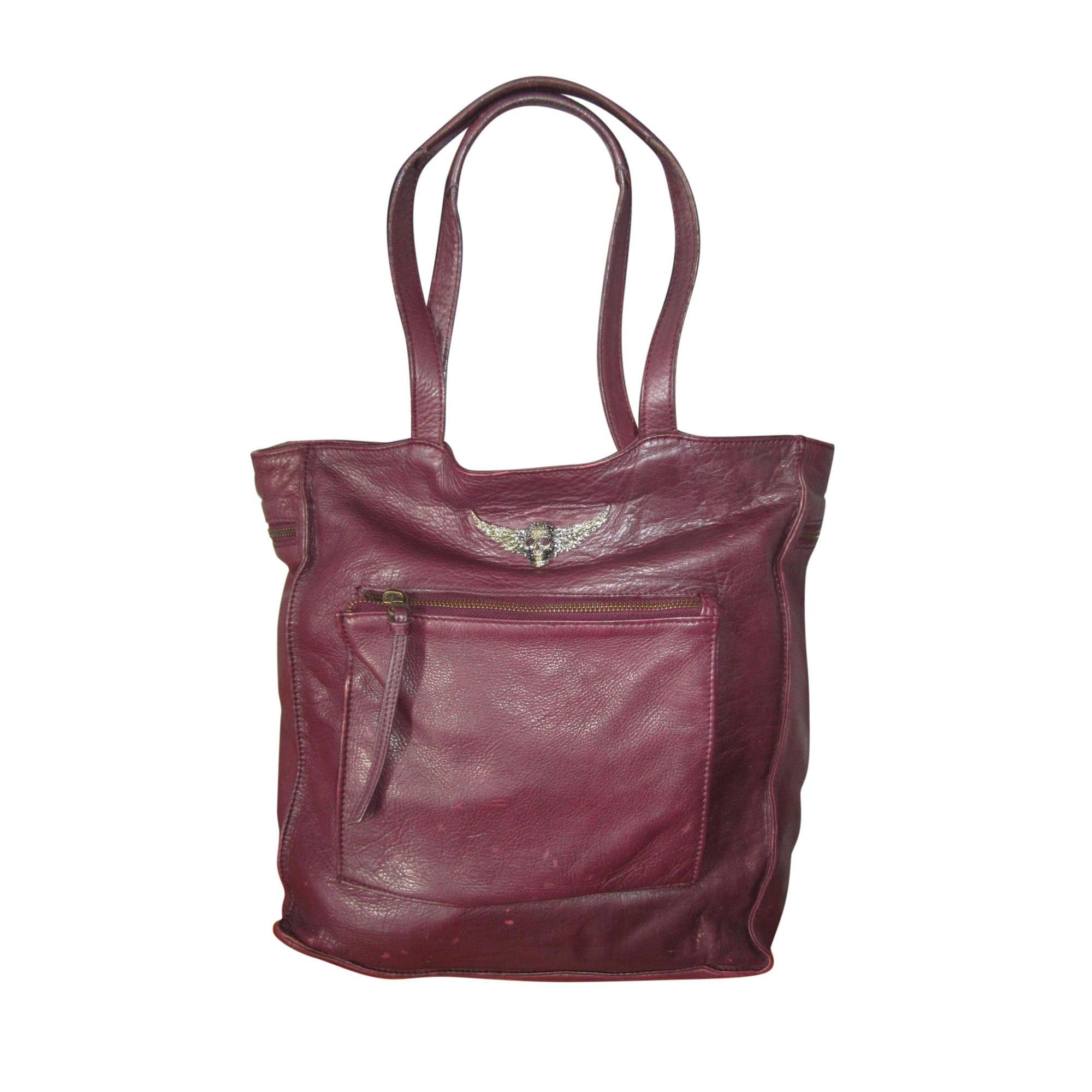 6da399b851 Sac à main en cuir ZADIG & VOLTAIRE rouge vendu par Le dressing de ...