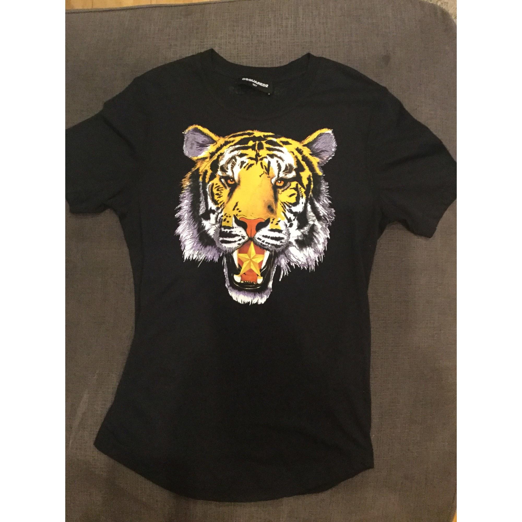 Tee Shirt Dsquared 9 10 Ans Noir 7740945