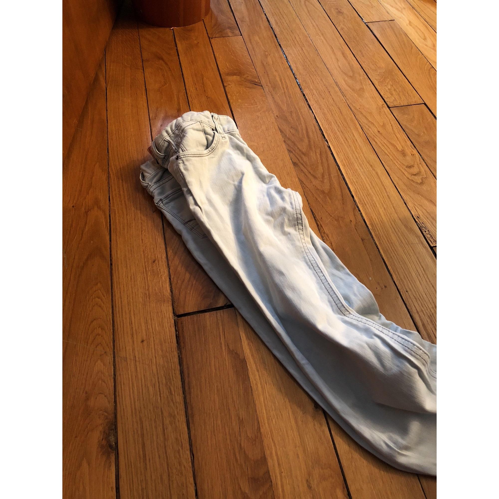 Pantalon LE TEMPS DES CERISES coton blanc 11-12 ans