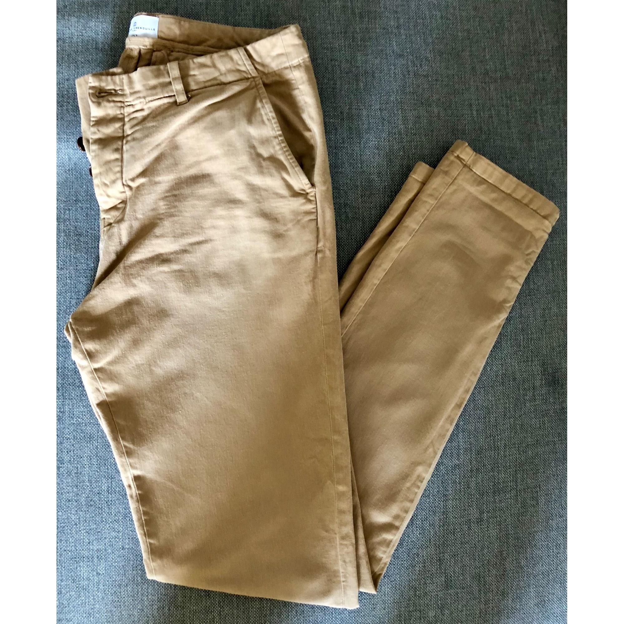Pantalon Grenouille De Vendu Beige Slim m Par 39 Cuisse Matelo Sp1Sr