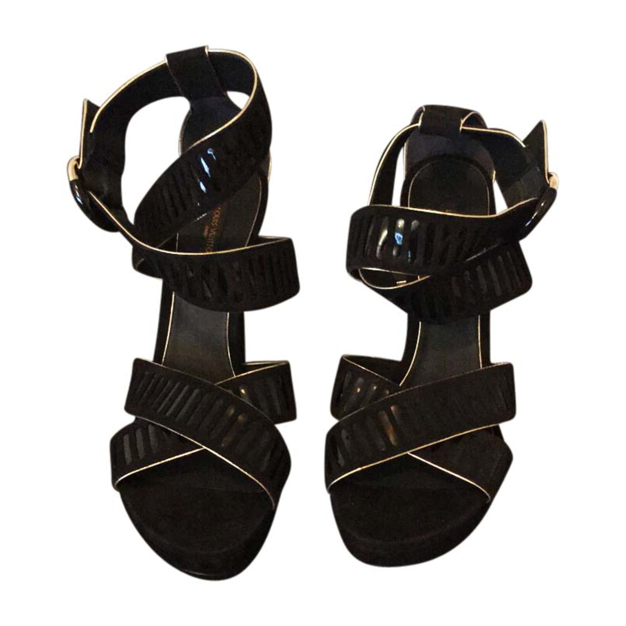 0befe9f48a2 Heeled Sandals LOUIS VUITTON 39 black - 7742208