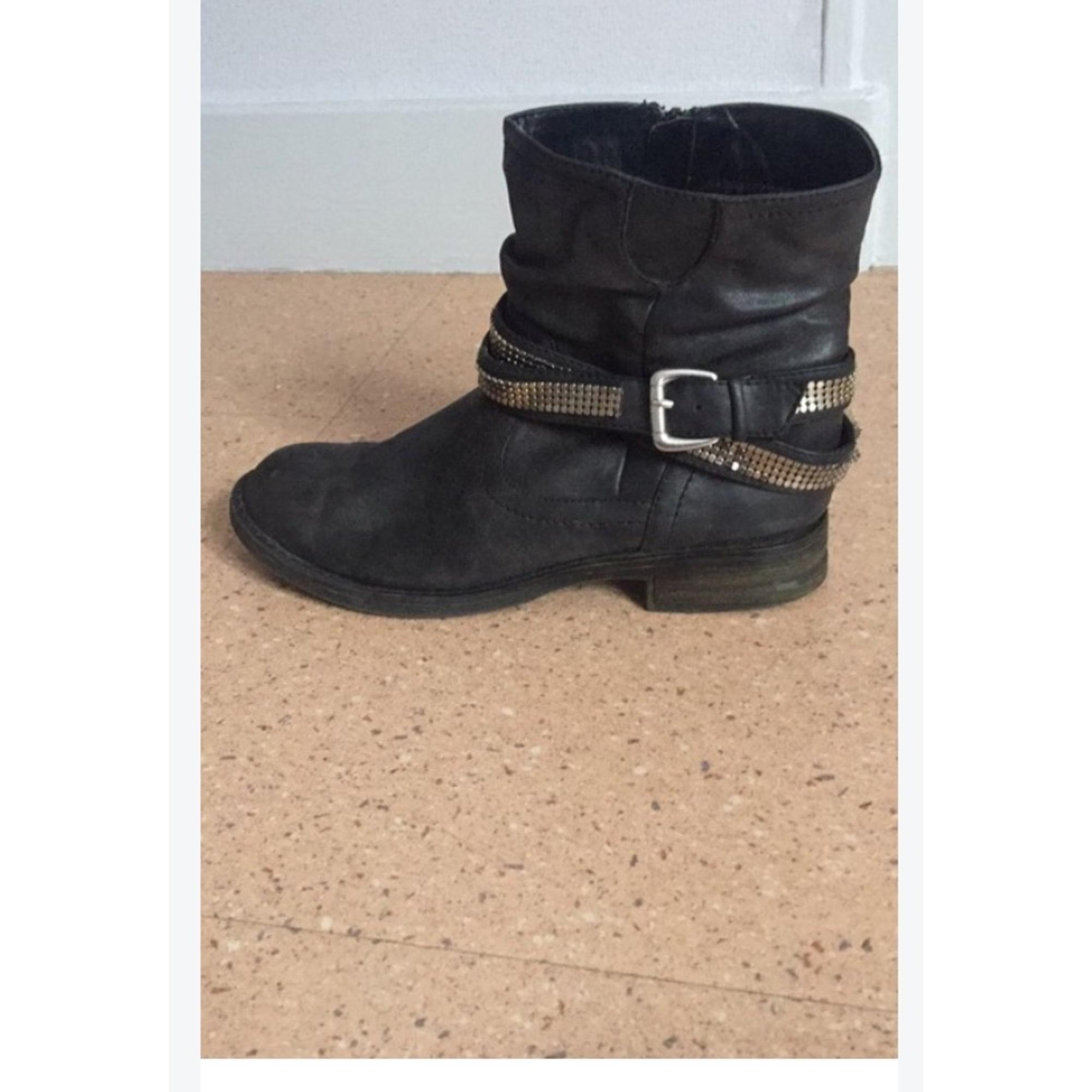 Boots Low Gémo Bottinesamp; 7743638 37 Noir Plates CoQdrxBWEe